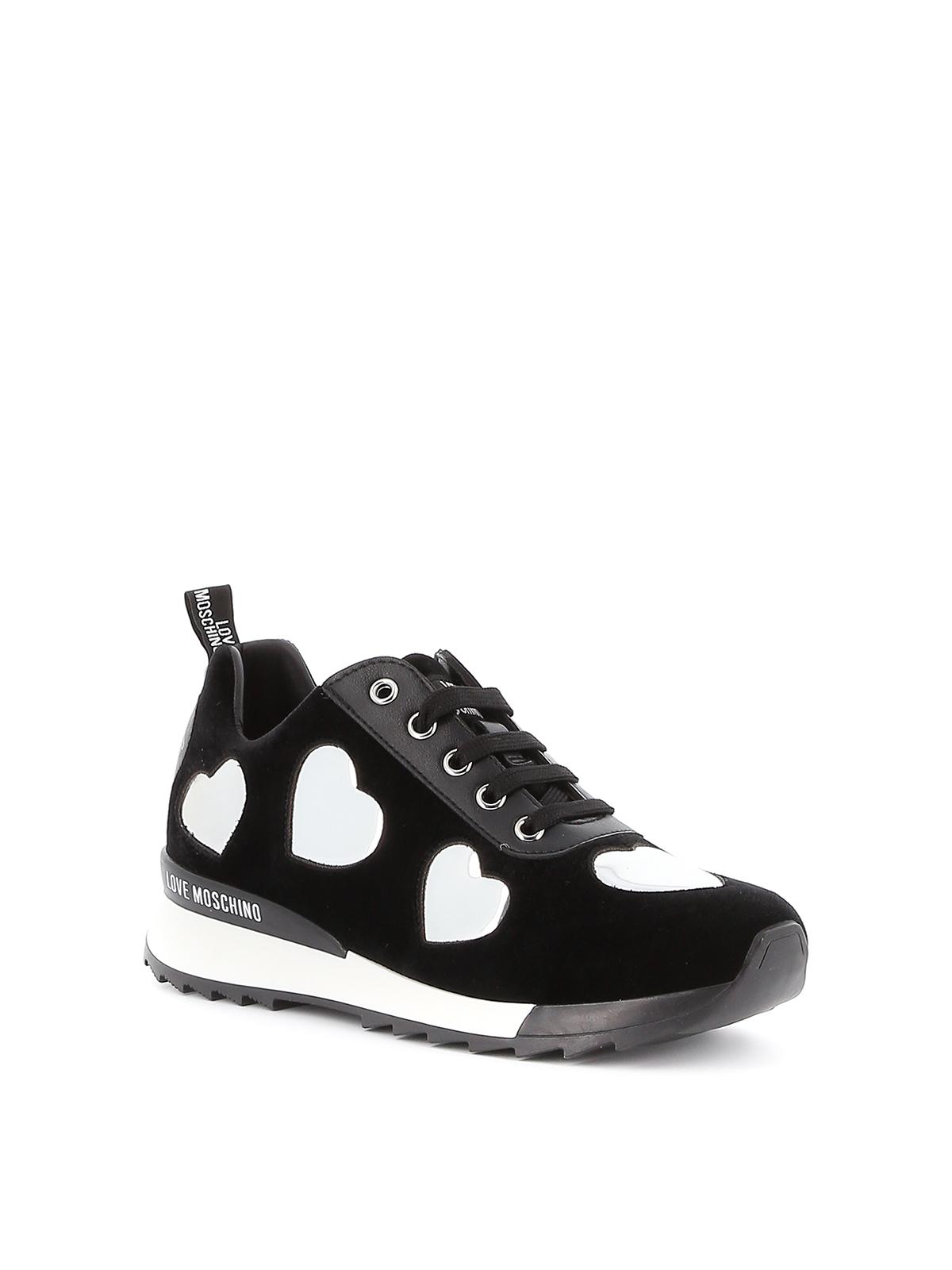 Love Moschino - Black velvet sneakers