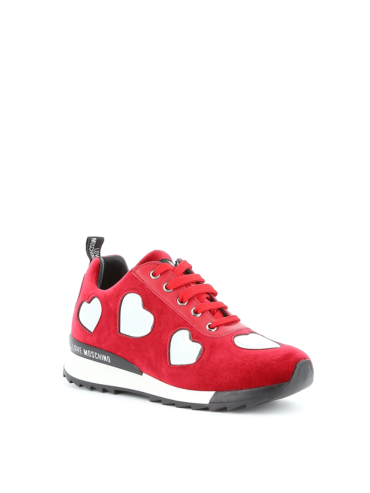 Love Moschino - Velvet sneakers with