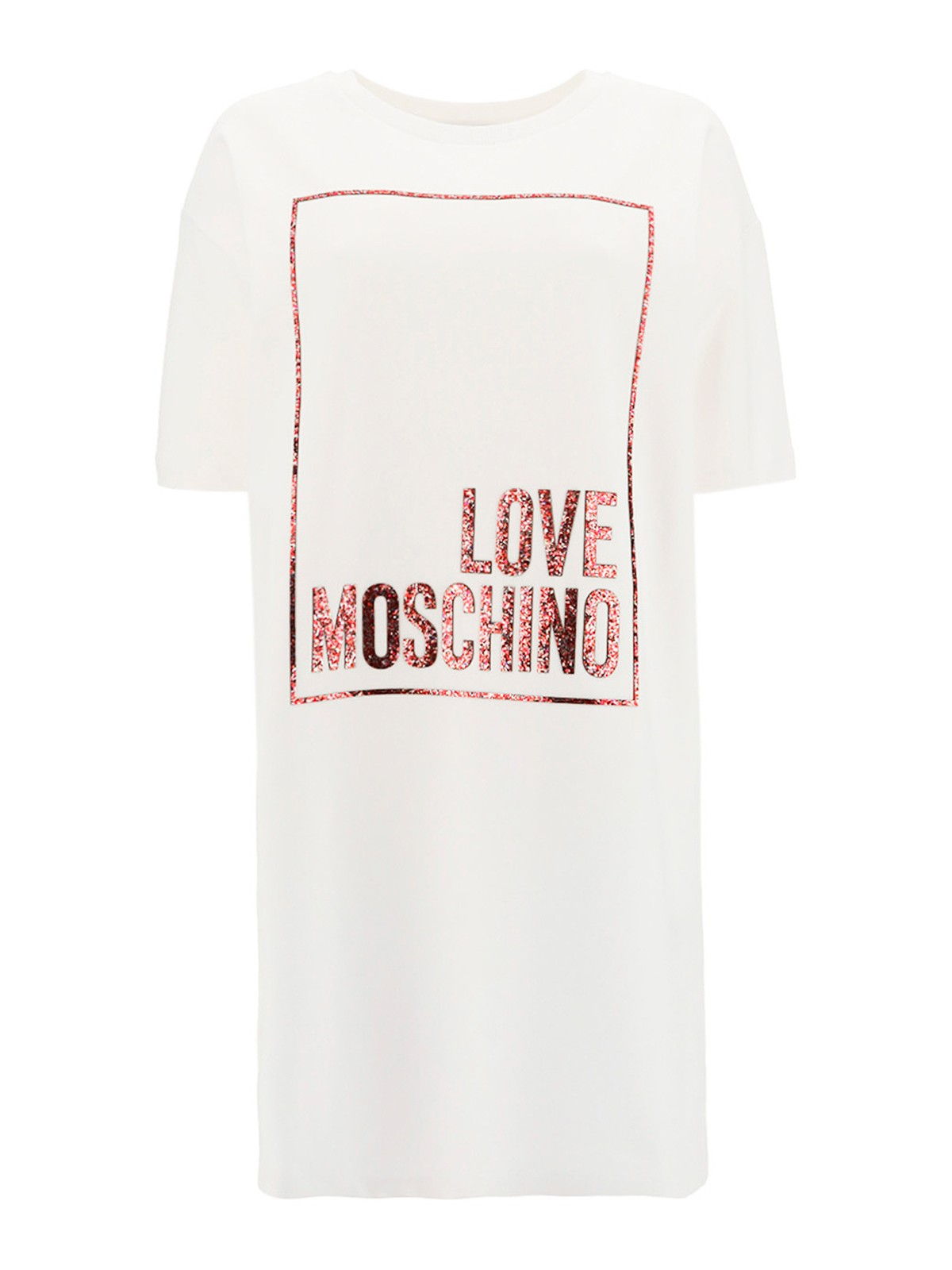Love Moschino GLITTERED LOGO DRESS