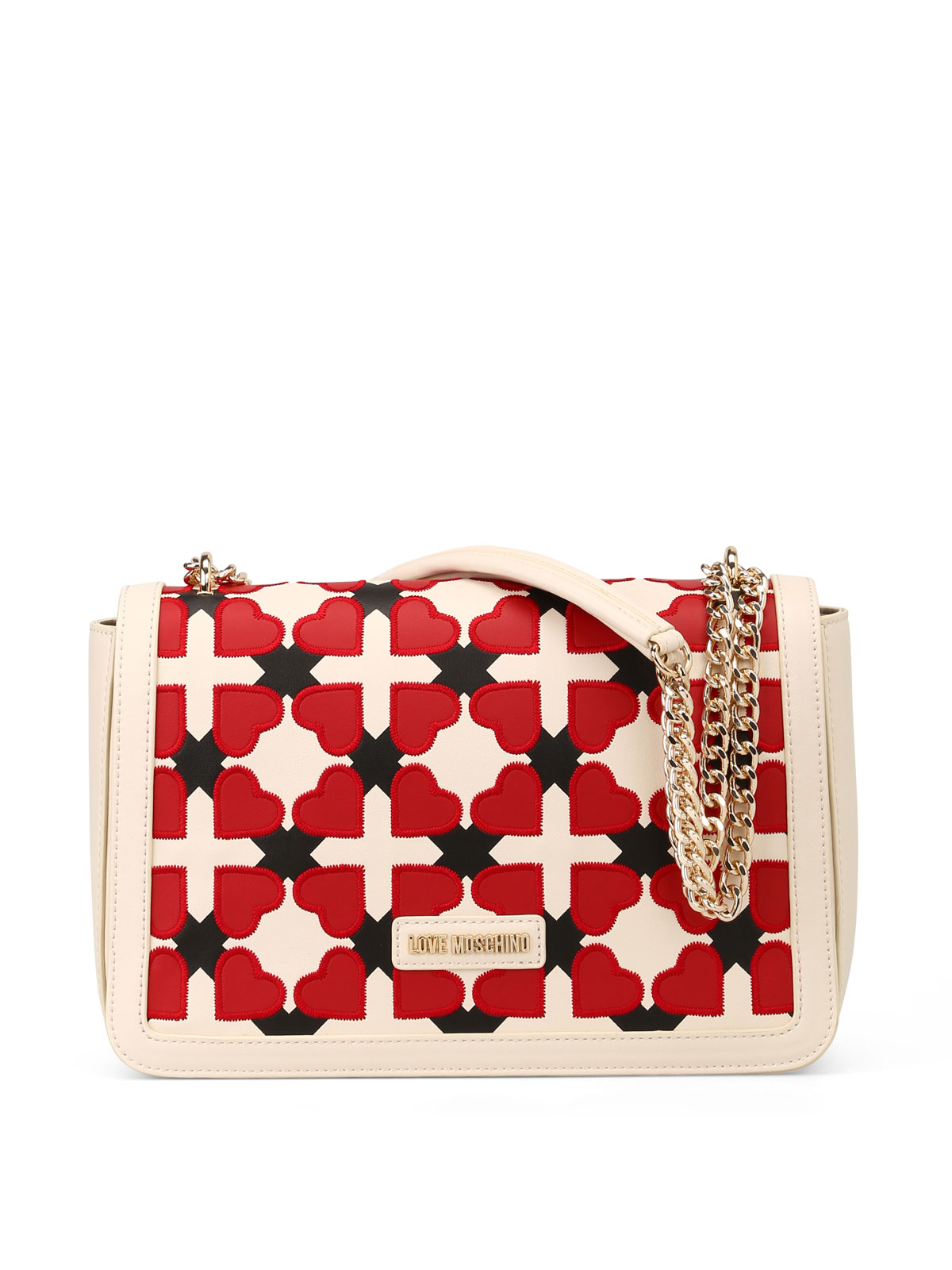 Love Moschino Checked heart shoulder bag JqH9App