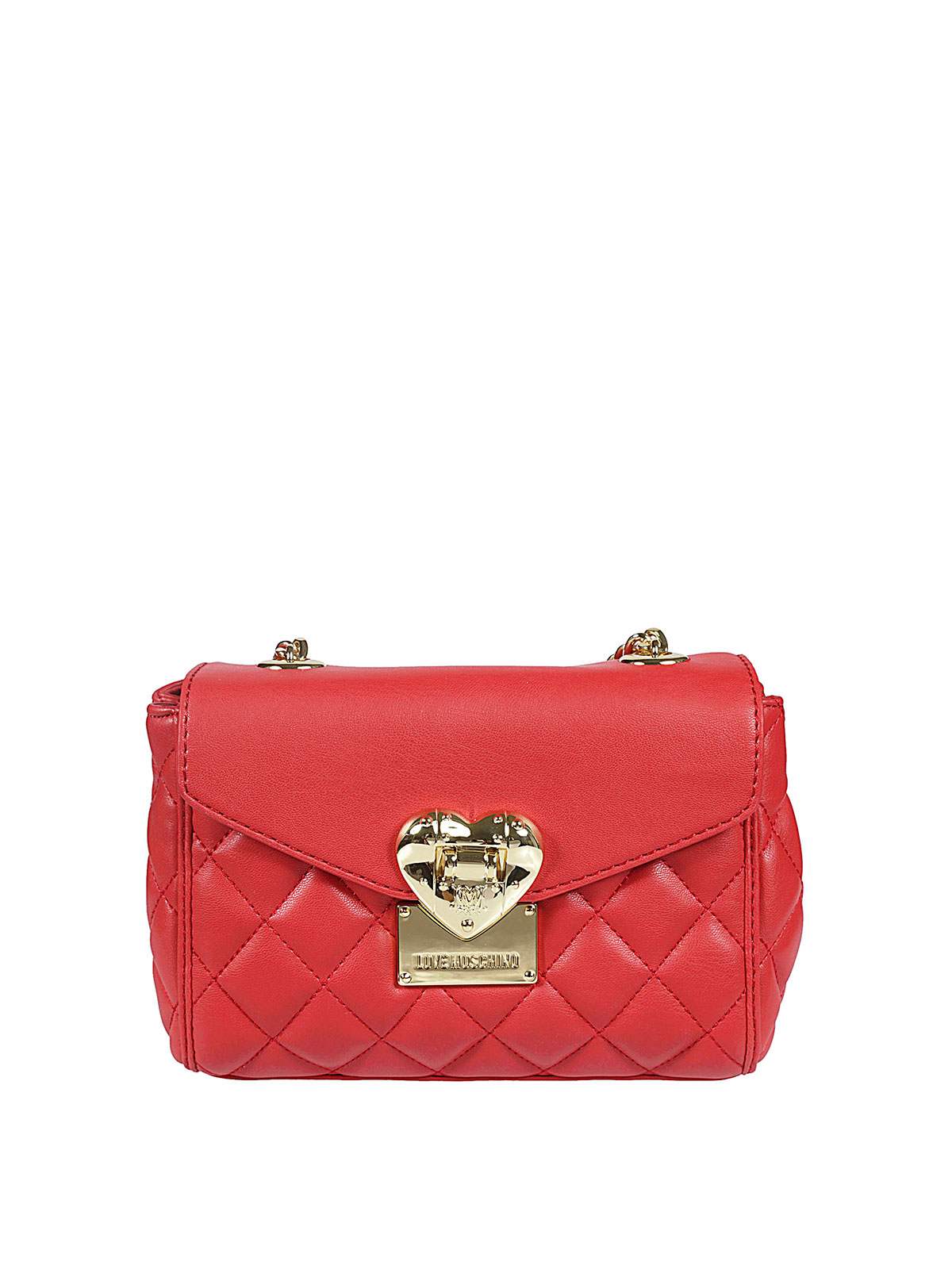 f9898fb2148f4 Love Moschino - HEART DETAILED QUILTED FOLDOVER BAG - shoulder bags ...