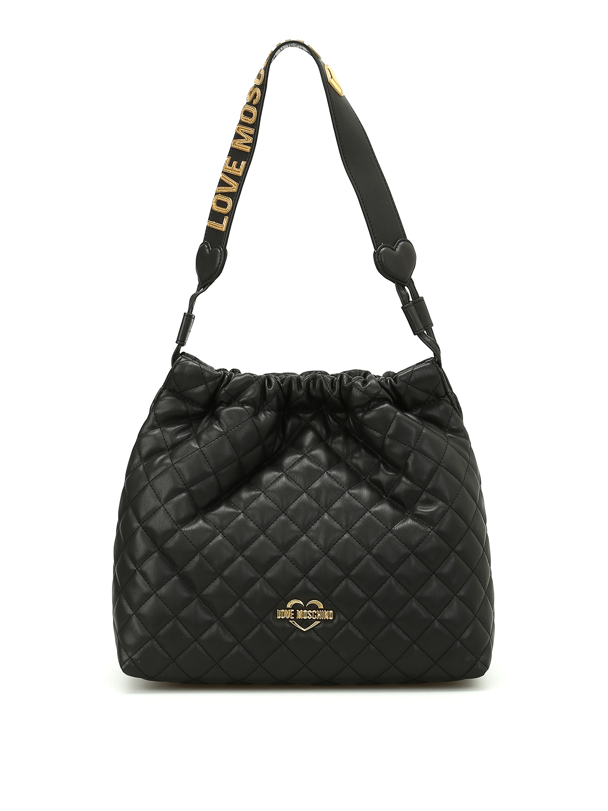 quilted nappa shoulder bag by love moschino shoulder bags ikrix. Black Bedroom Furniture Sets. Home Design Ideas