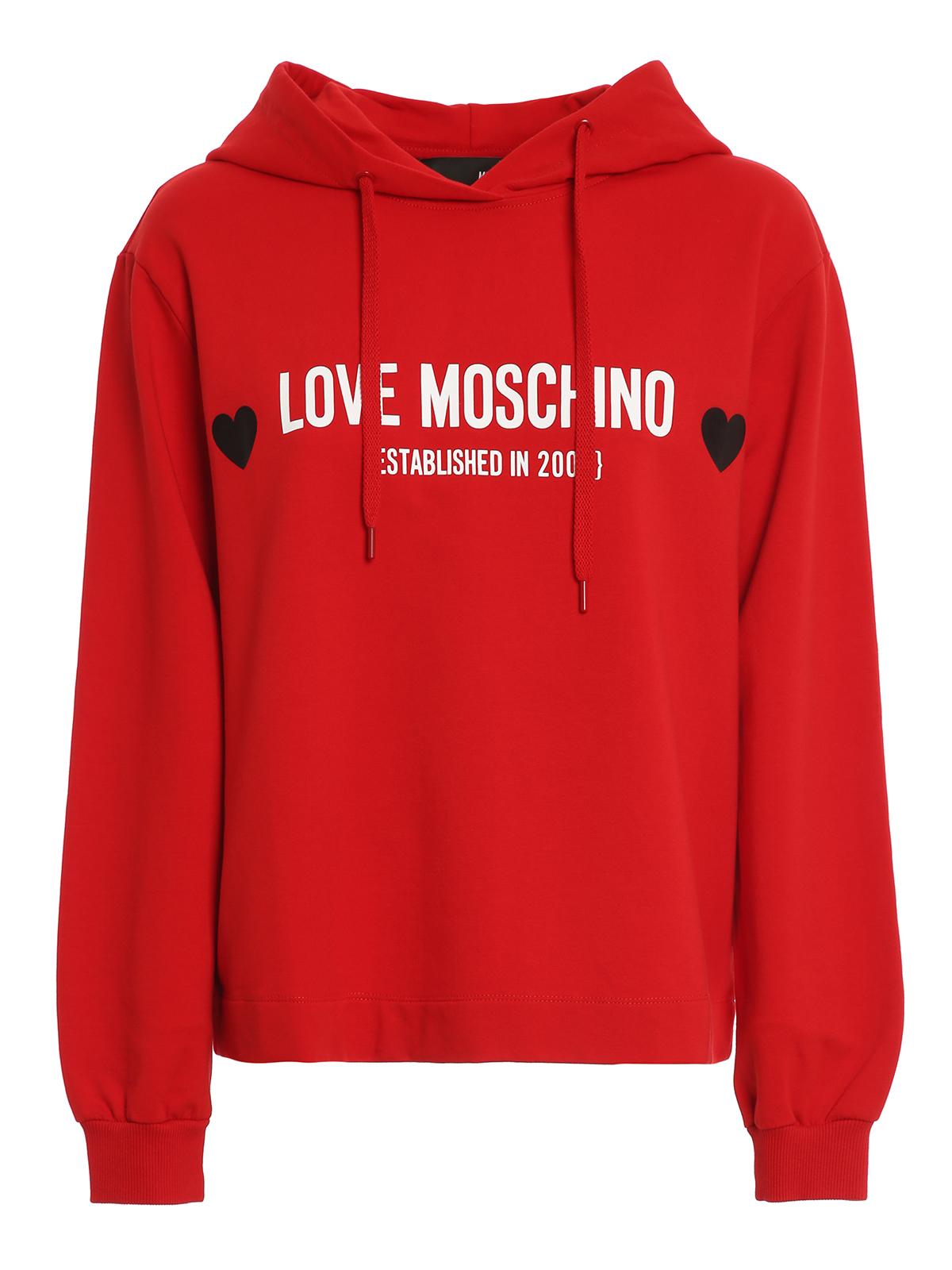Love Moschino Hoodies CORE HOODIE