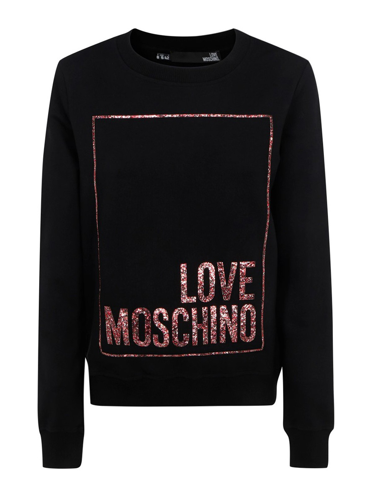 Love Moschino GLITTERED LOGO SWEATSHIRT