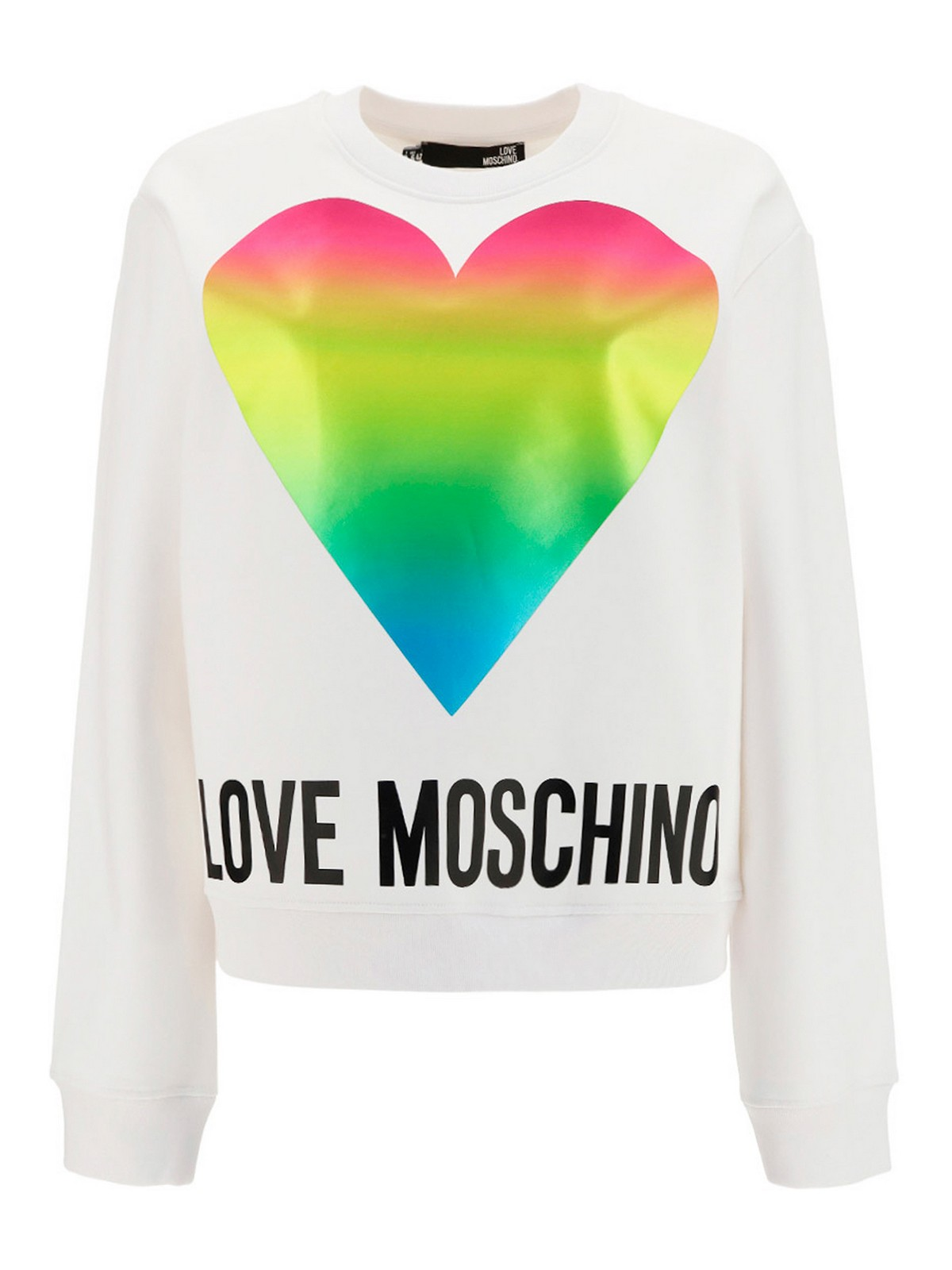 Love Moschino HEART LOGO COTTON SWEATSHIRT