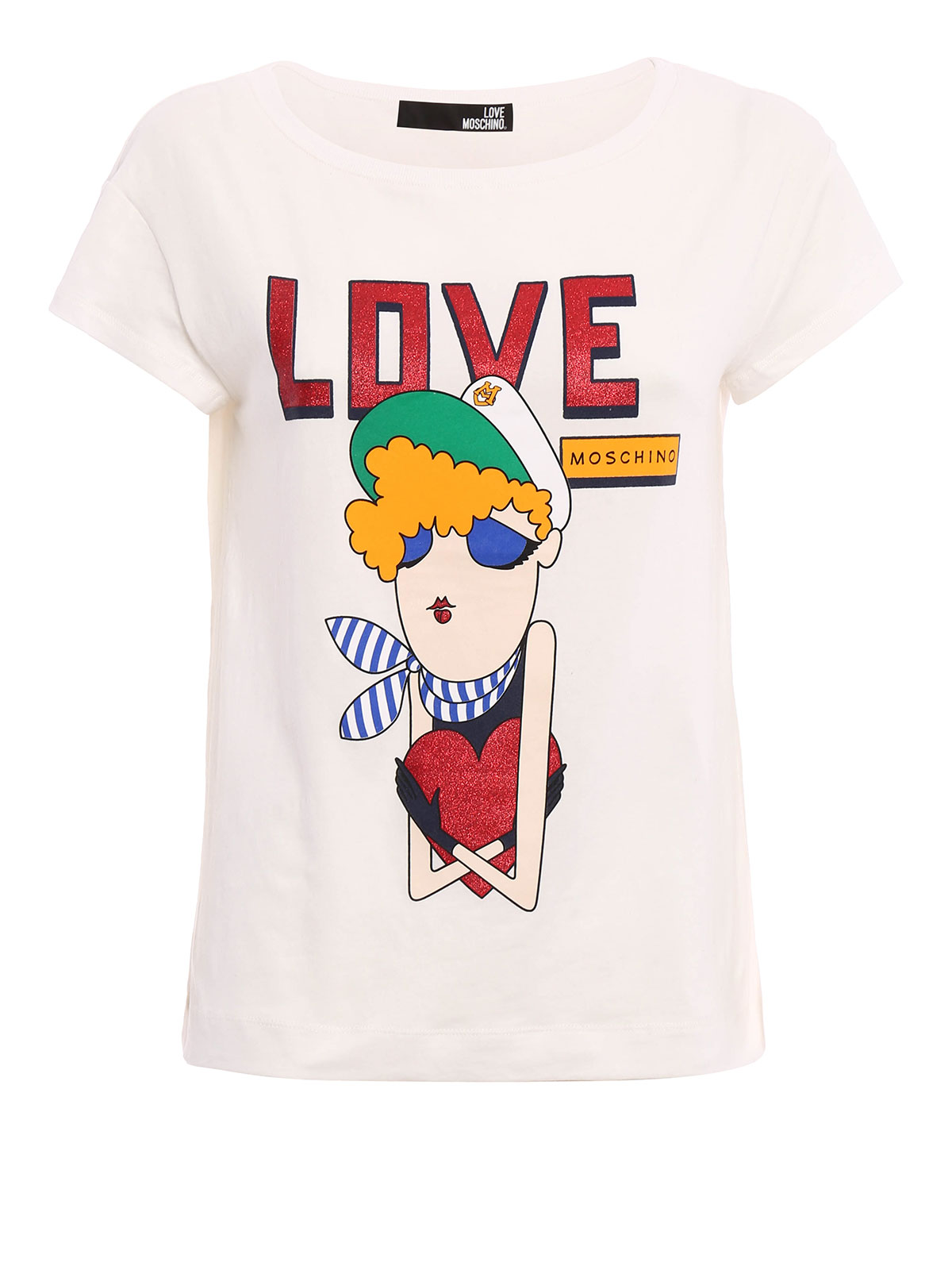 love moschino doll print t shirt t shirts. Black Bedroom Furniture Sets. Home Design Ideas