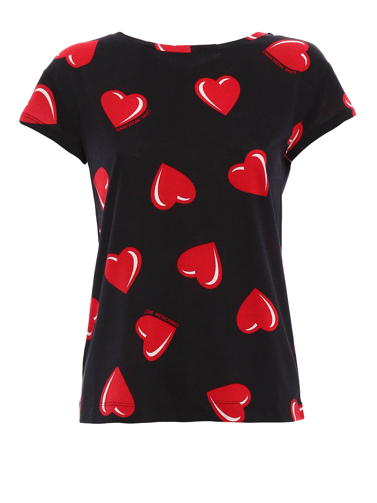 love moschino heart pattern t shirt t shirts. Black Bedroom Furniture Sets. Home Design Ideas