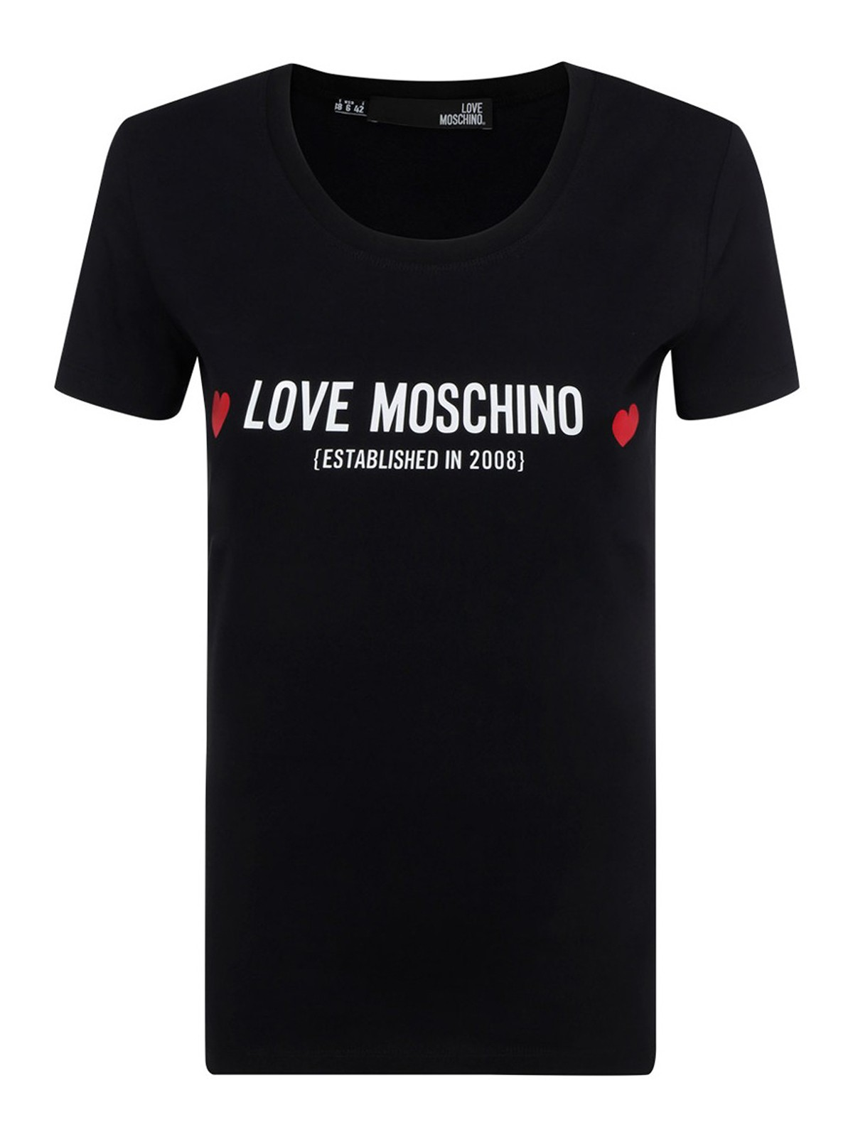 Love Moschino Cottons LOGO LETTERING T-SHIRT