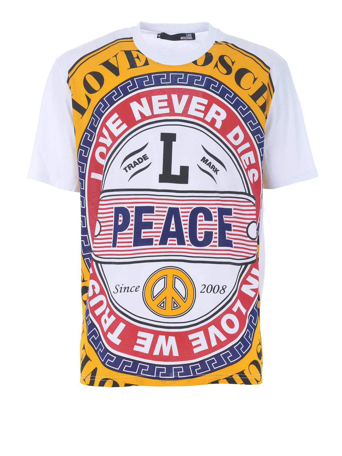 adc20aa3e9847a Love Moschino - Multicolour print cotton T-shirt - t-shirts ...