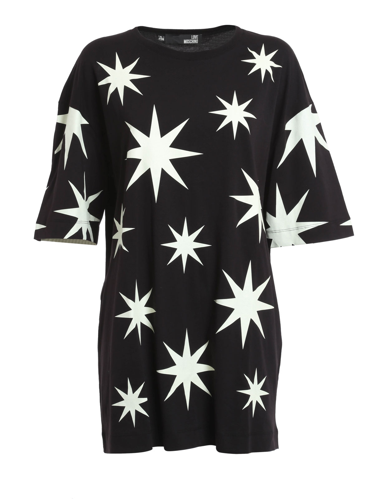 love moschino star print t shirt t shirts. Black Bedroom Furniture Sets. Home Design Ideas