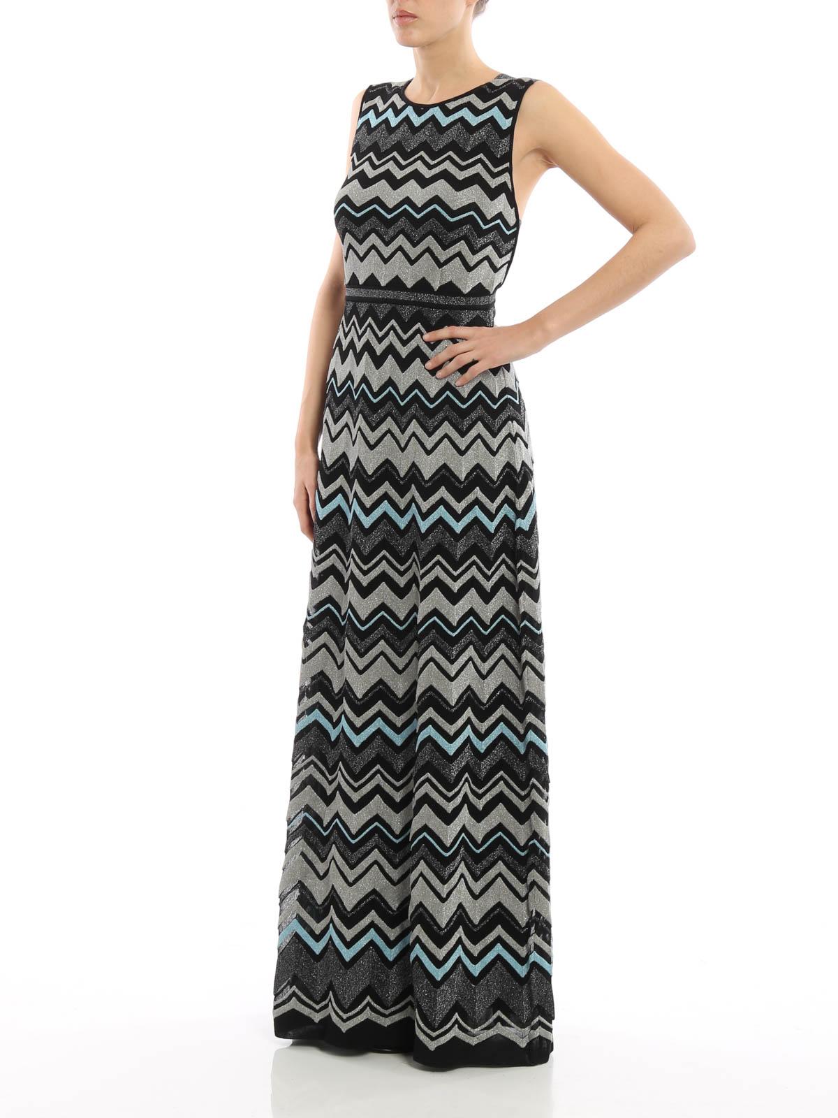 Lurex detailed chevron maxi dress by M Missoni - evening dresses ...