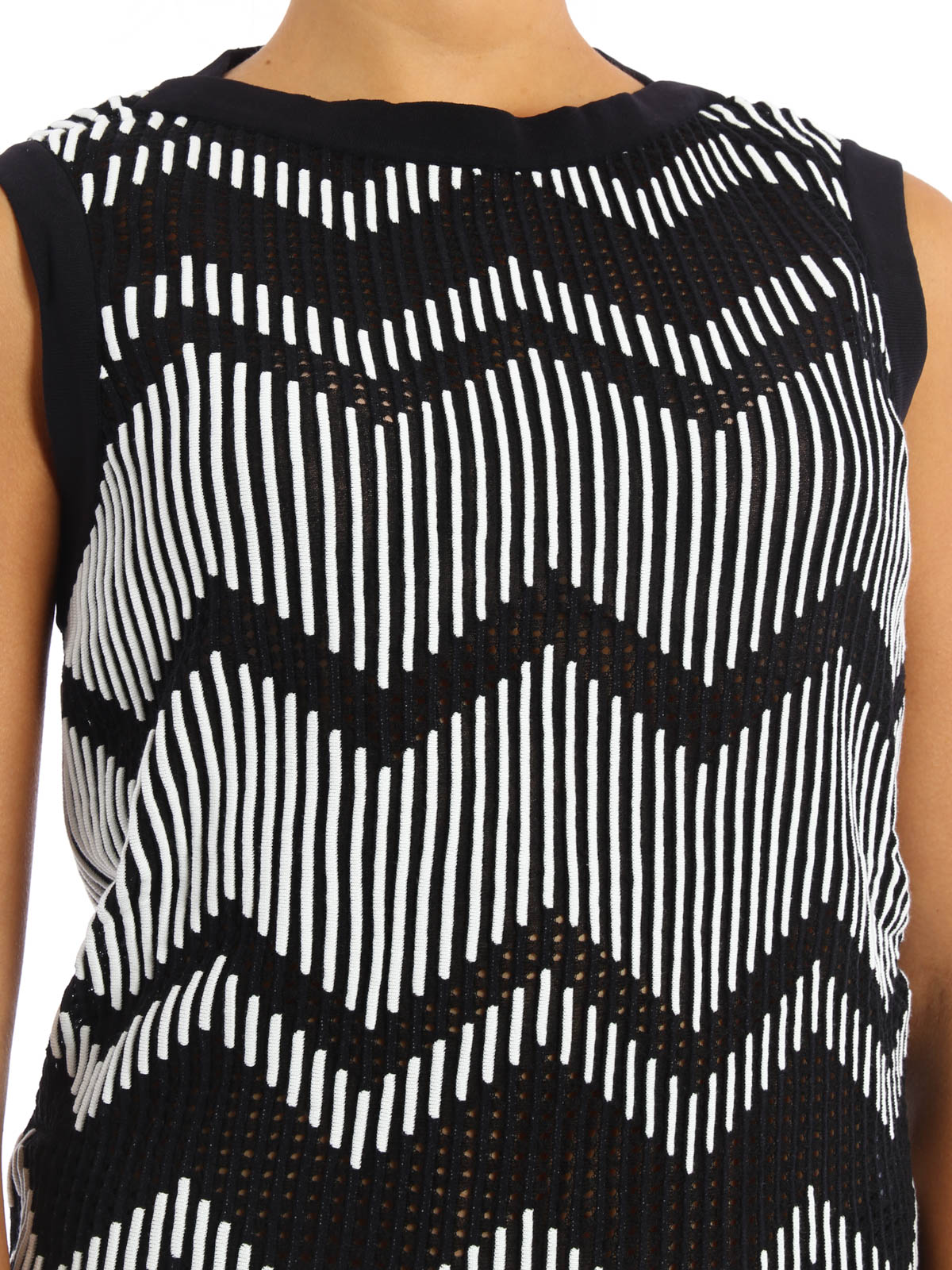 Chevron pattern knitted tank top by M Missoni - Tops & Tank tops ...