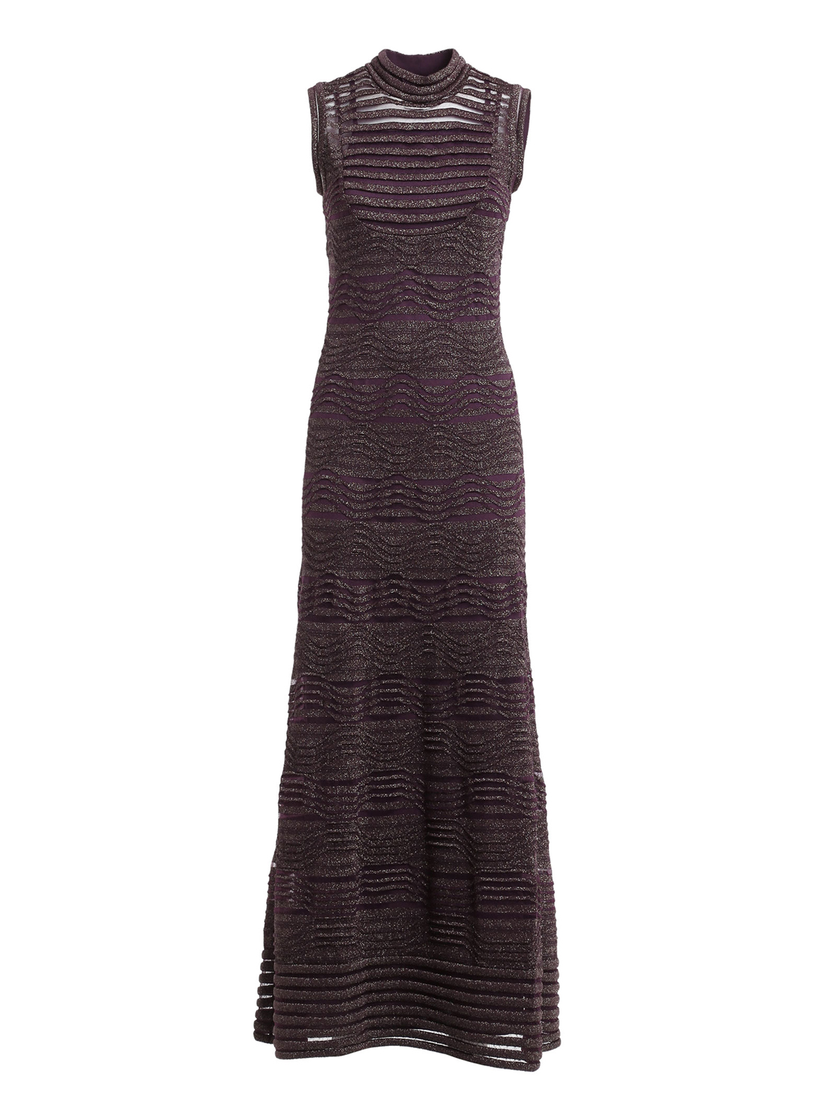 Chevron lurex long dress by M Missoni - evening dresses   iKRIX