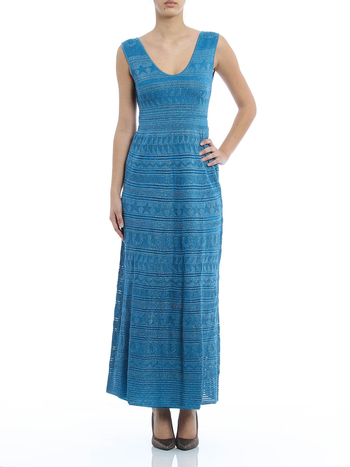 Chevron and lurex maxi dress by M Missoni - evening dresses   iKRIX
