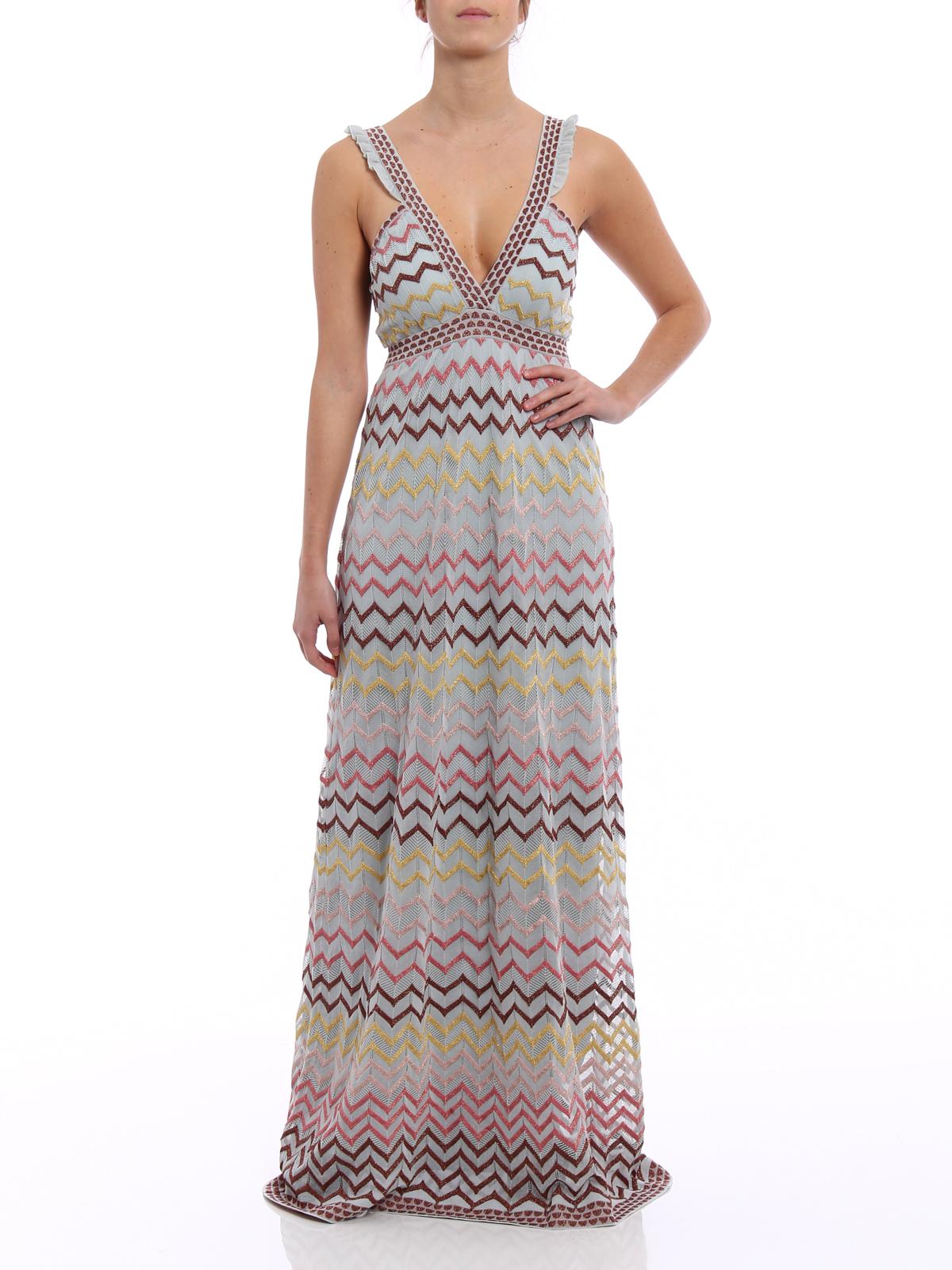 V-neckline knitted maxi dress by M Missoni - maxi dresses | Shop ...