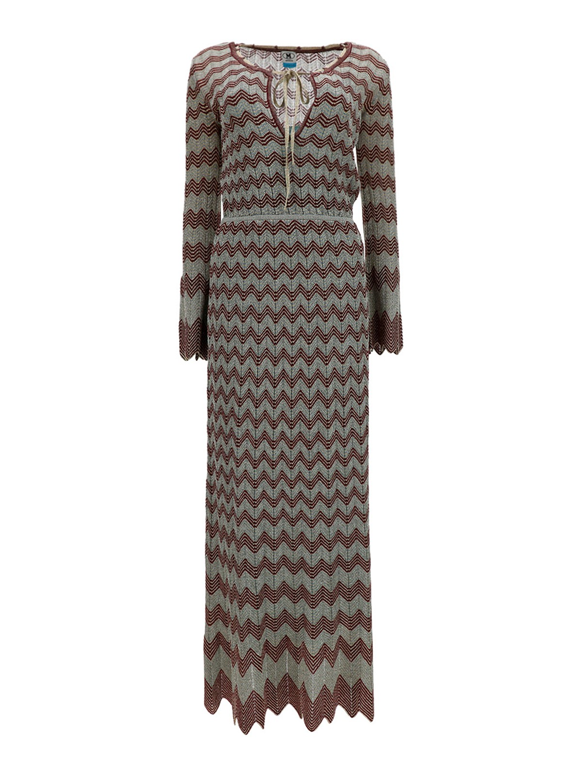 M Missoni VISCOSE-BLEND V-NECK DRESS