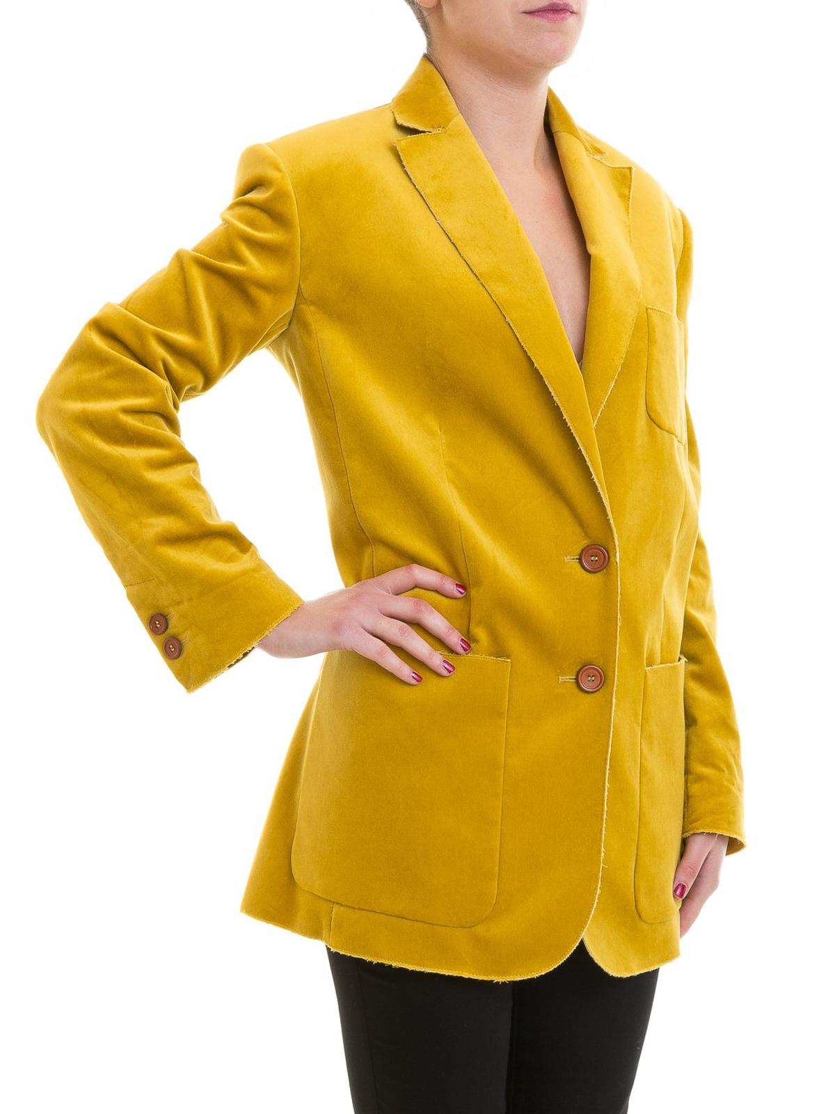 Vestes Costume M Jaune Blazer Qd3ce2102s2s20 De Missoni twFqFHg