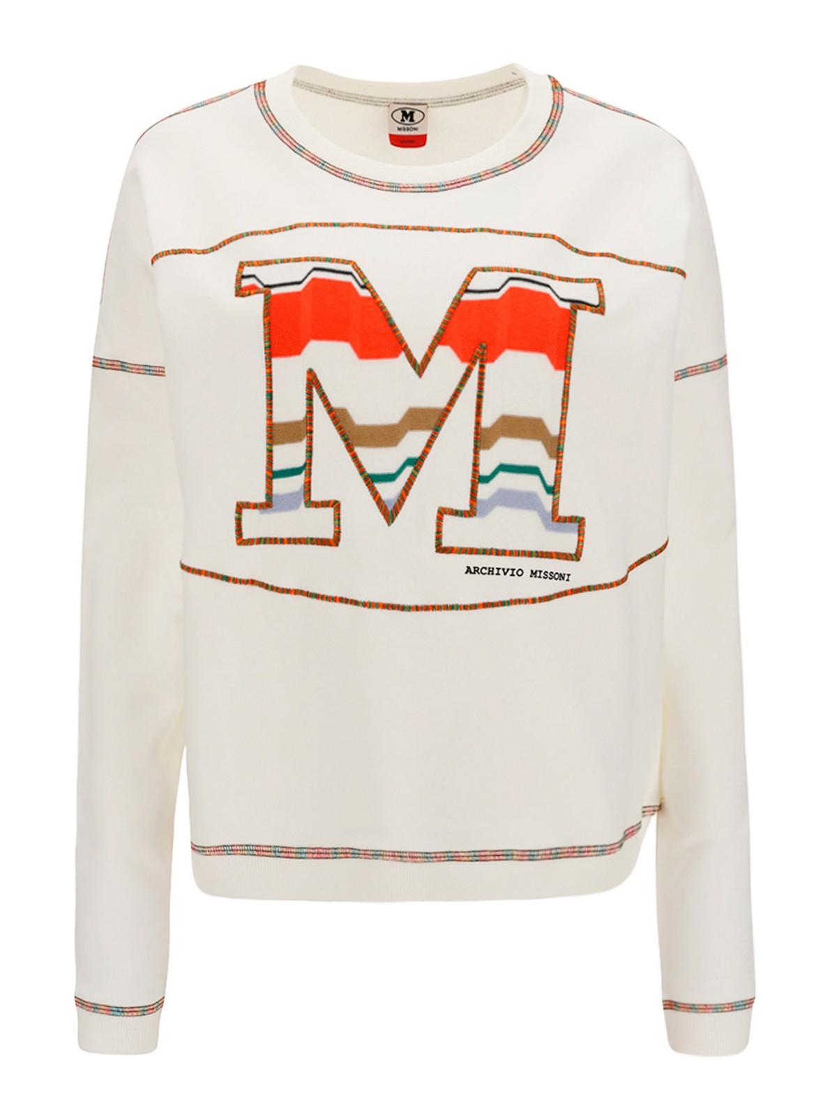 M Missoni Cottons M EMBROIDERY SWEATSHIRT