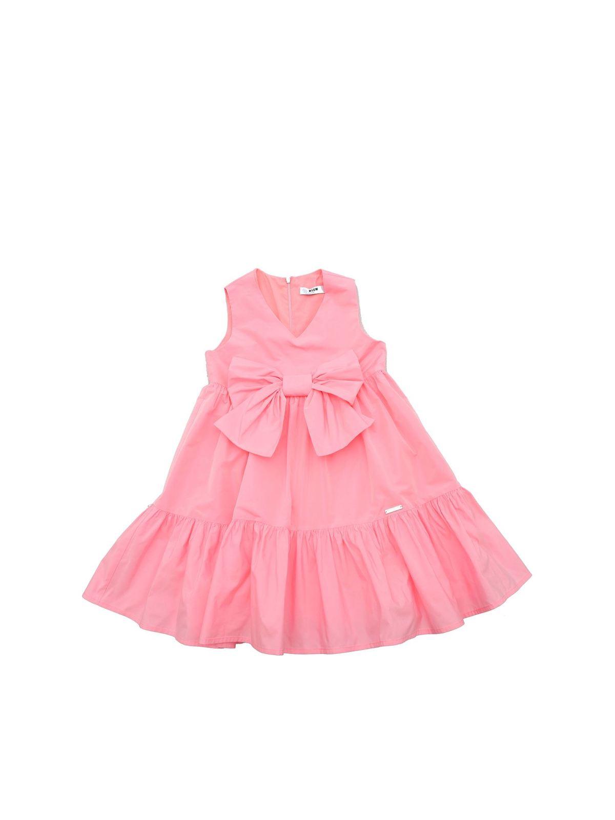 Msgm Cottons BOW DRESS