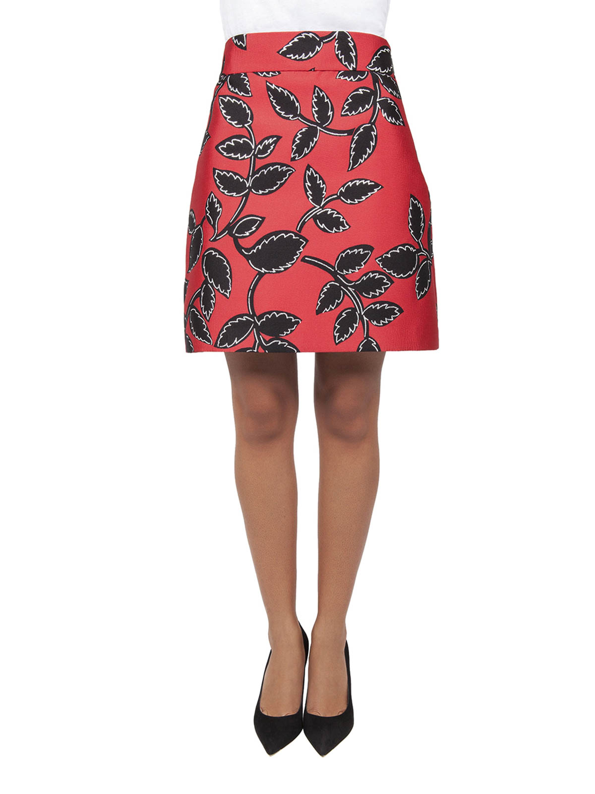 floral patterned a line skirt by m s g m mini skirts