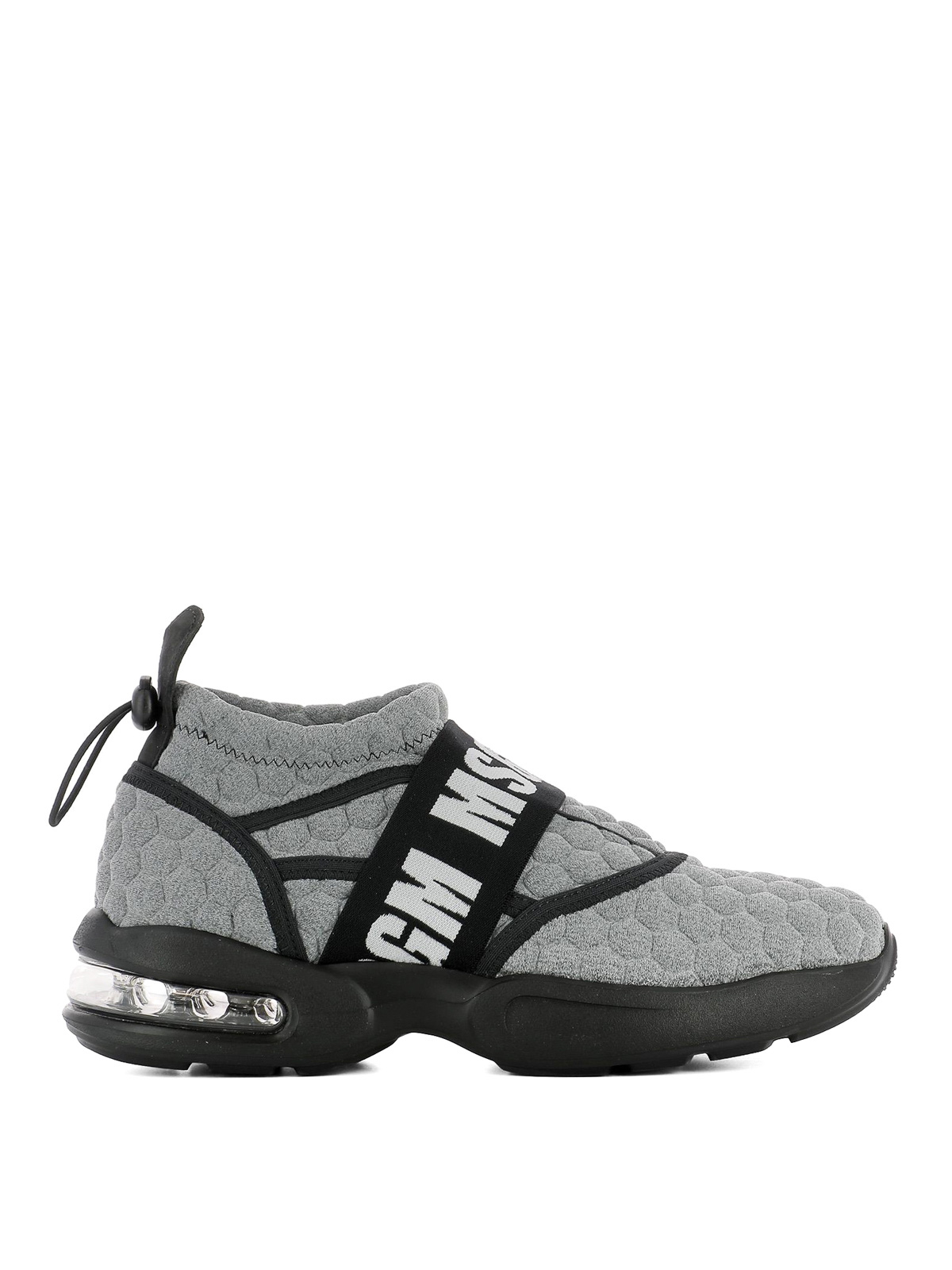 branded quilted sneakers - Grey Msgm WpyVkuuA