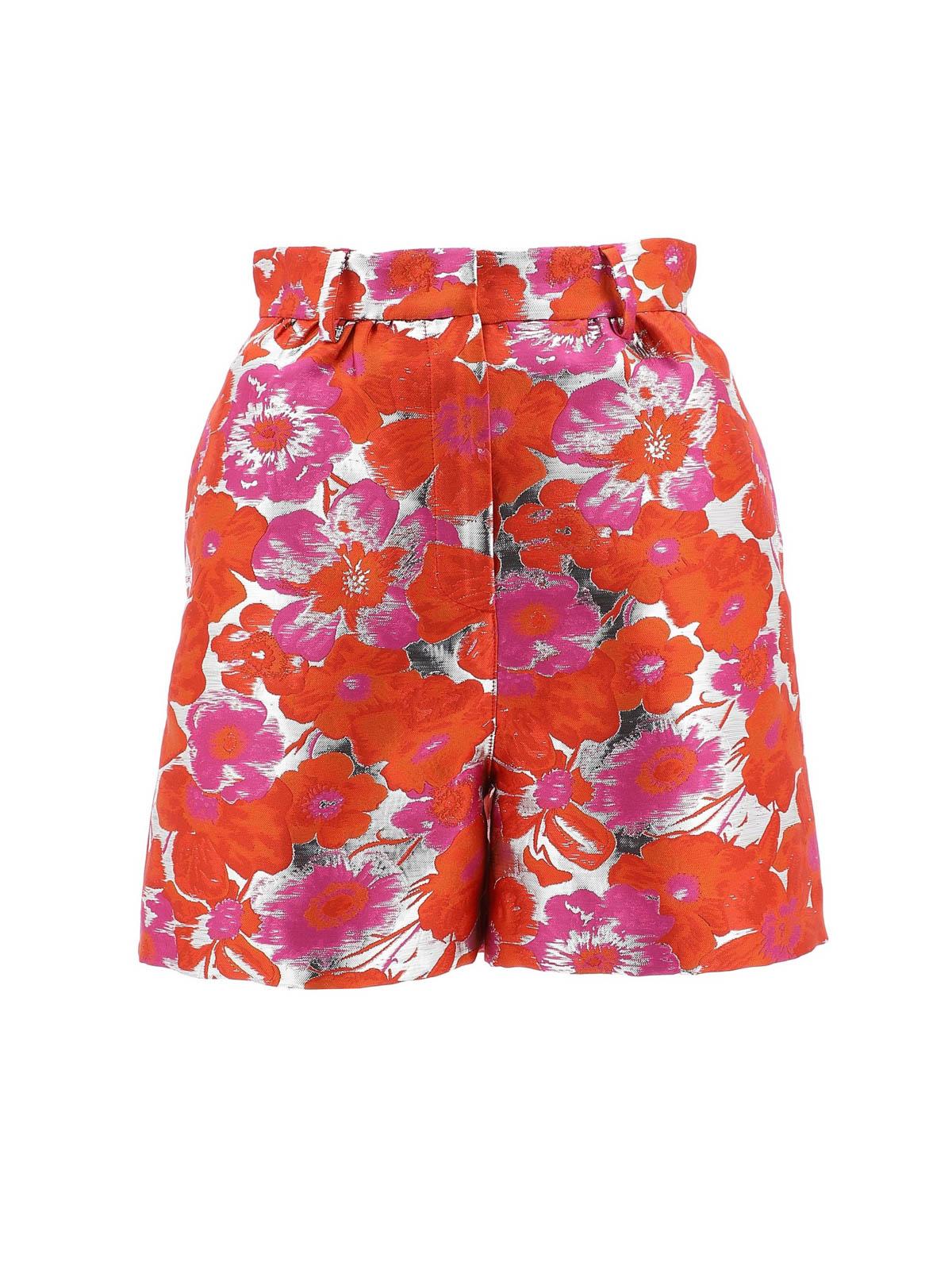 Msgm Shorts FLOWER PRINT JACQUARD SHORTS
