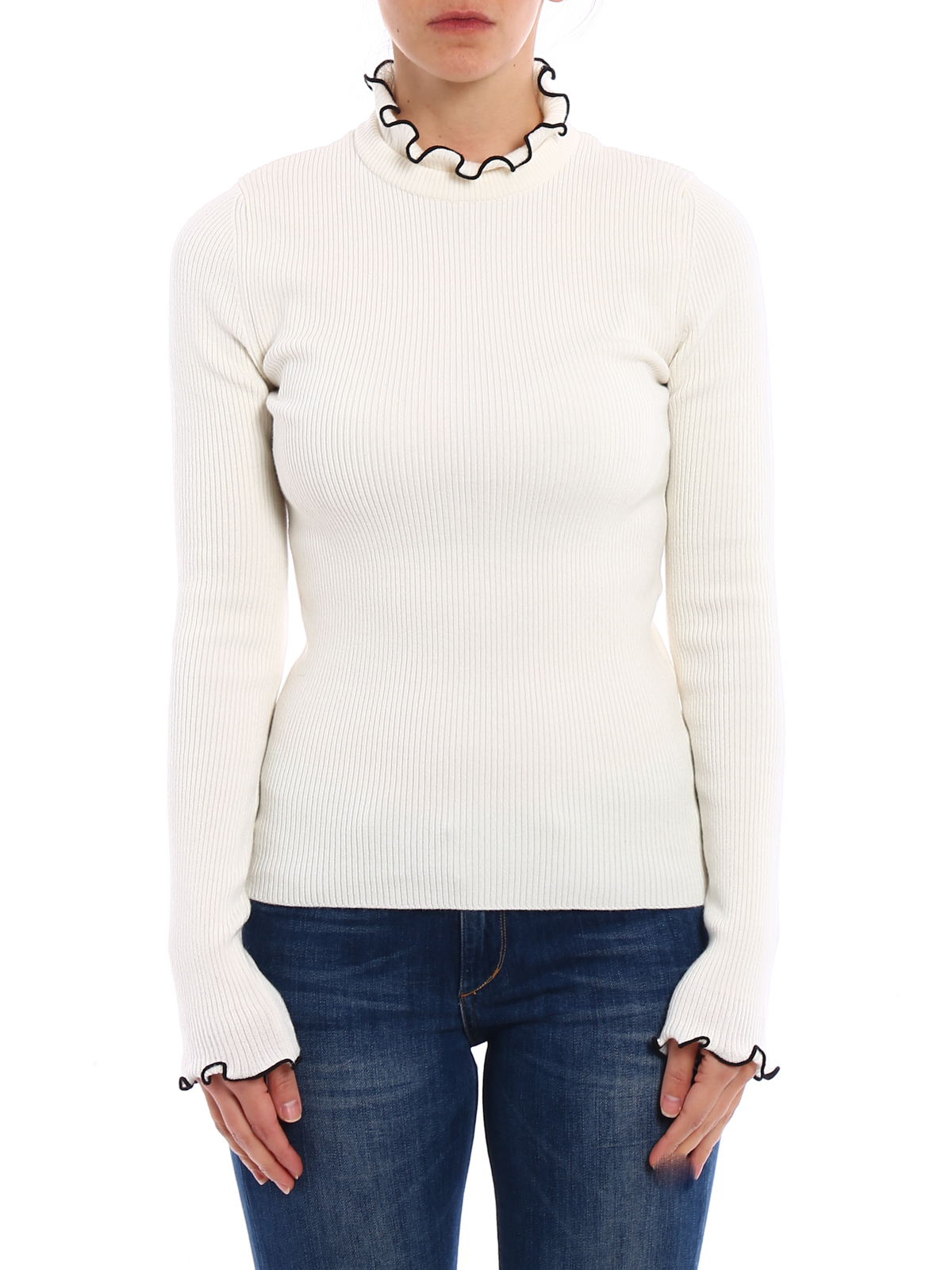 Outlet Online Buy Cheap Manchester Ribbed wool-blend sweater Msgm uNiiuc5