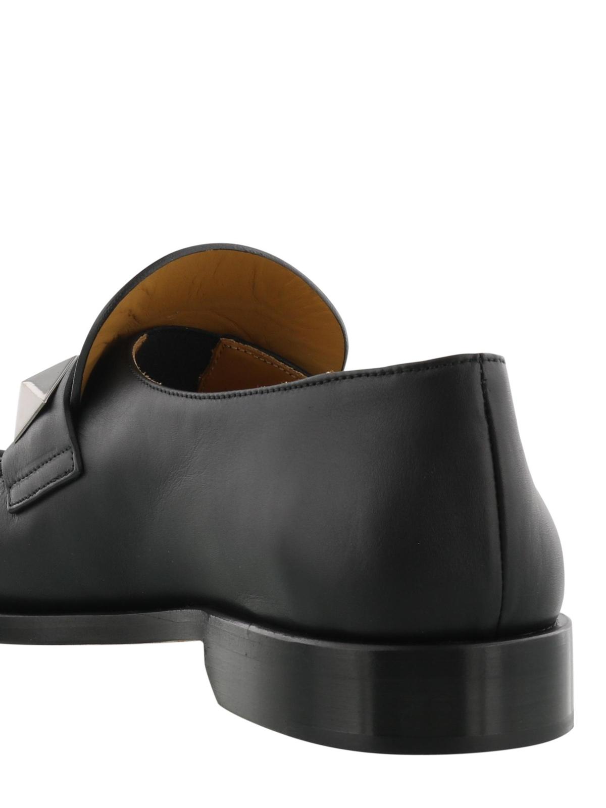 55e1f7ff131 Valentino Garavani - Macro studs nappa loafers - Loafers   Slippers ...