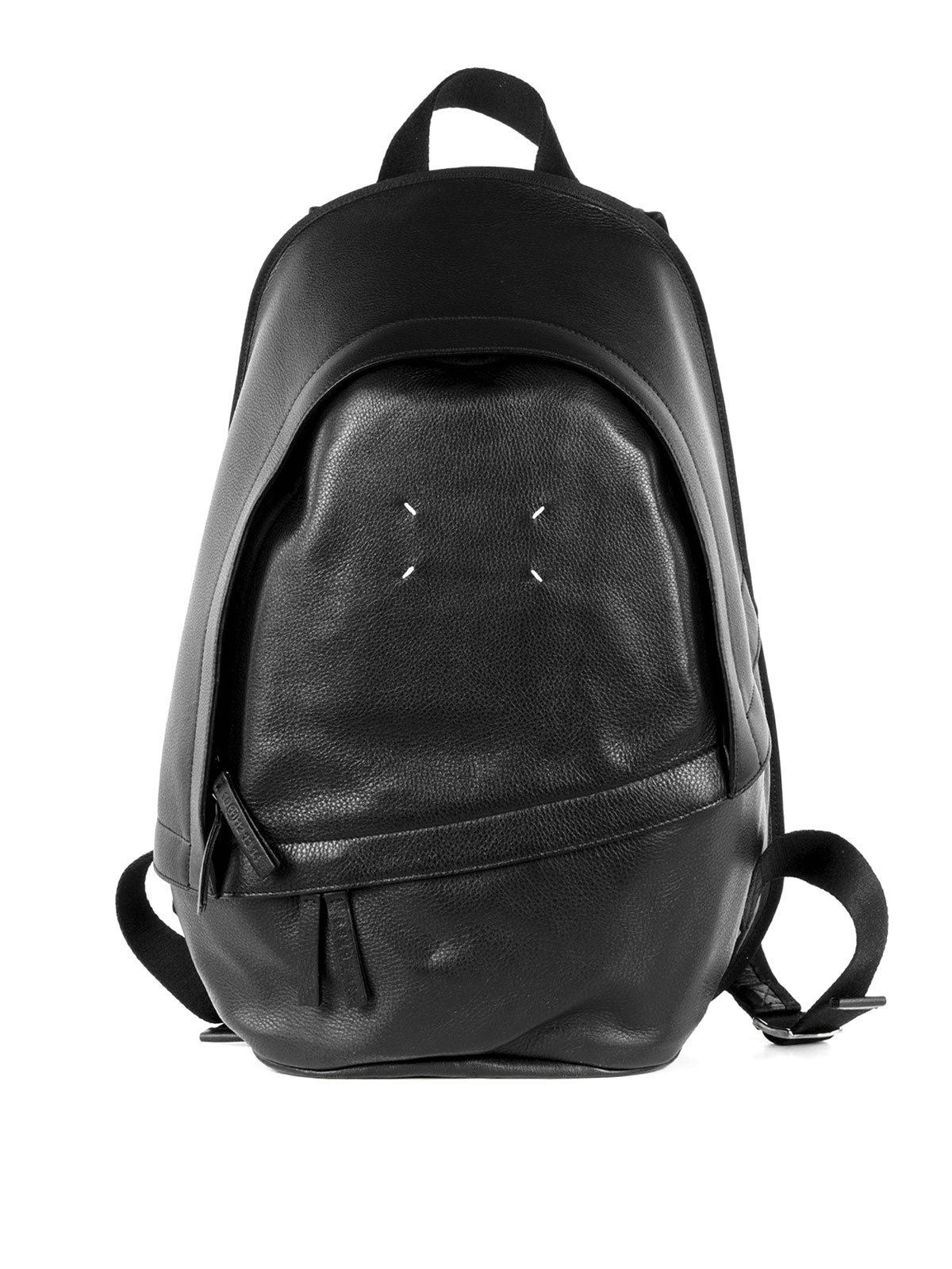 Margiela Leather Maison Backpacks Grained Backpack 6dwqOOB