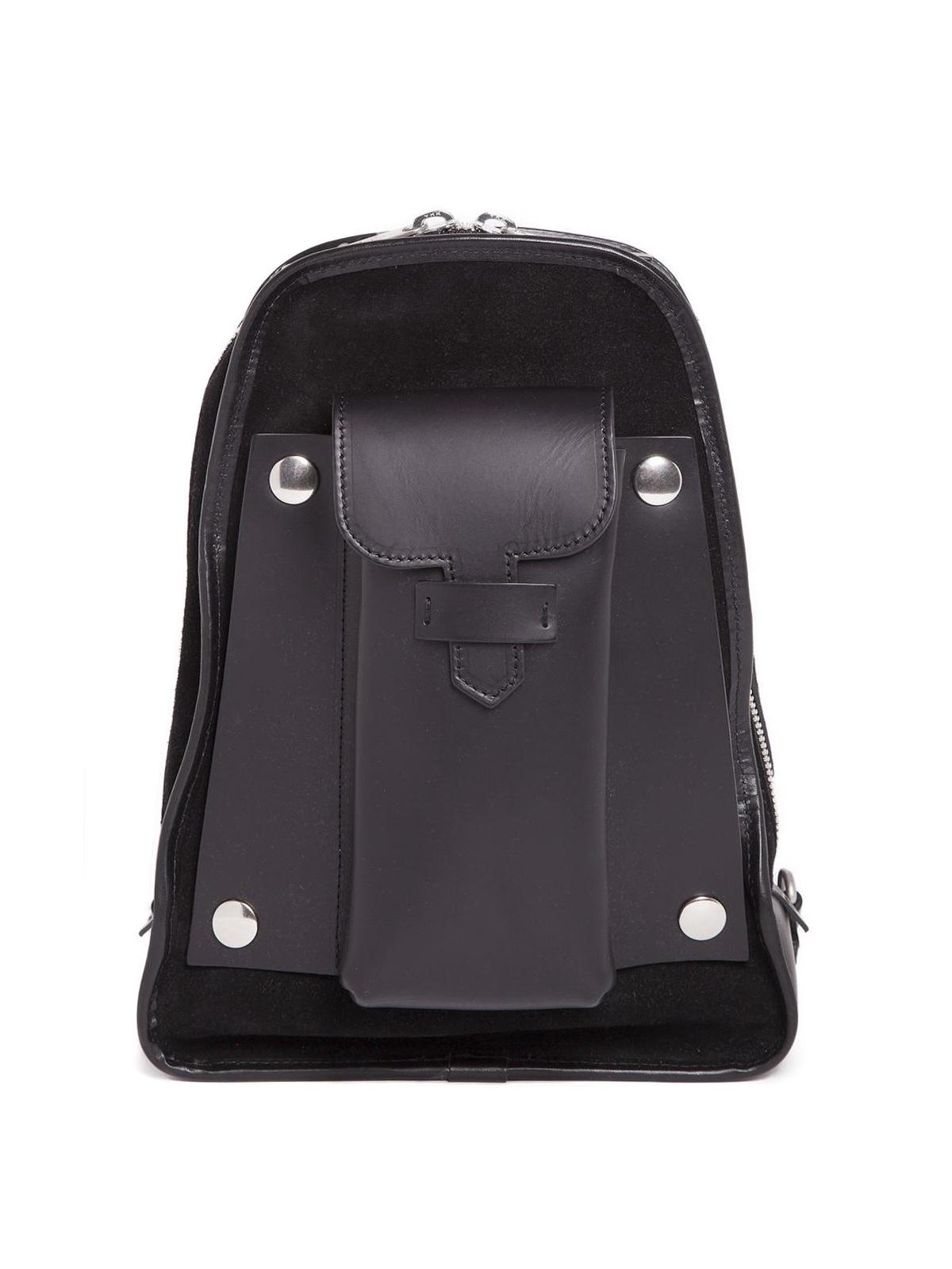 4d8fd6e8f7 Maison Margiela - Leather suede one shoulder backpack - backpacks ...