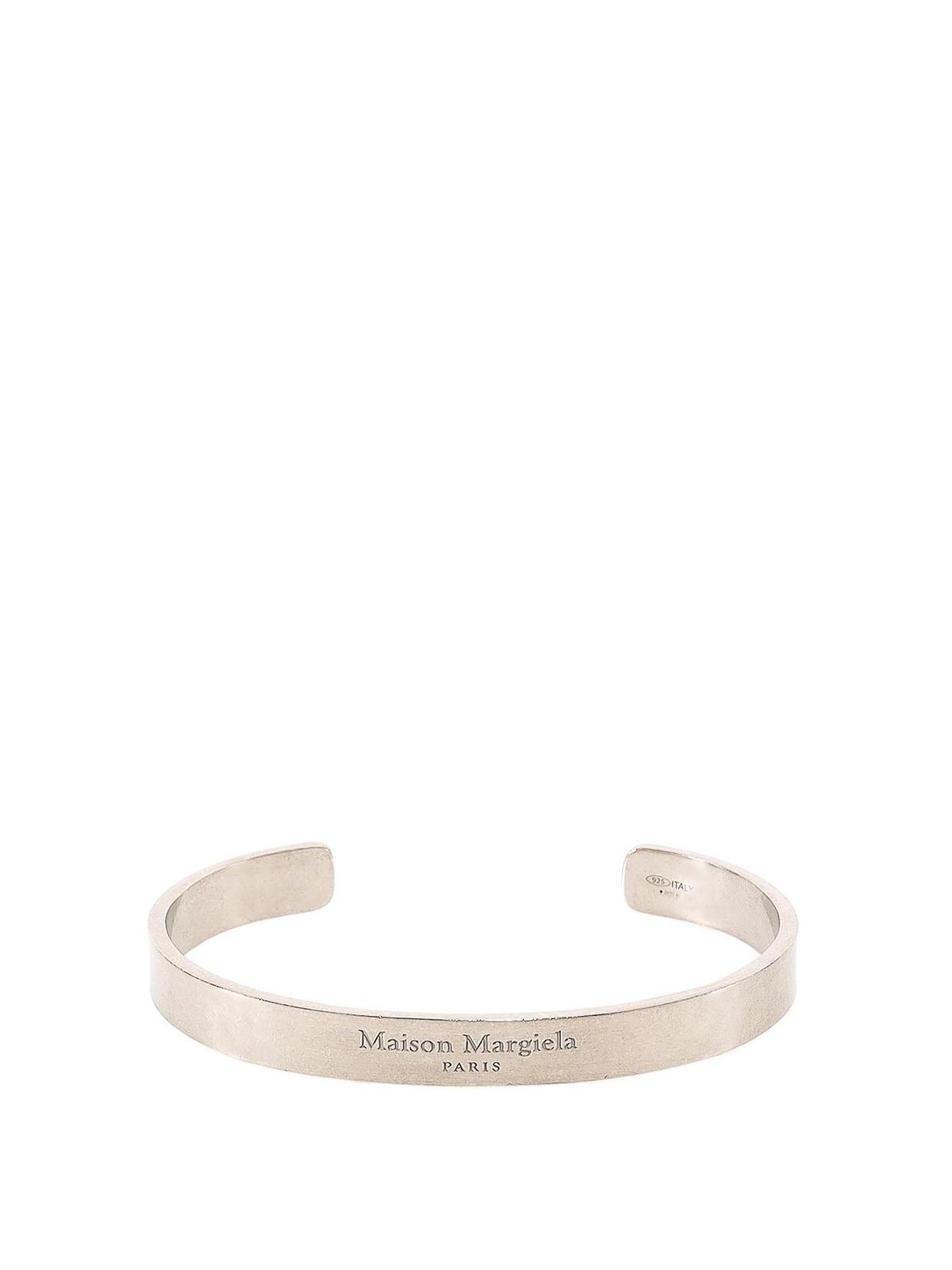 Maison Margiela - Bracciale con logo inciso - Bracciali e ...