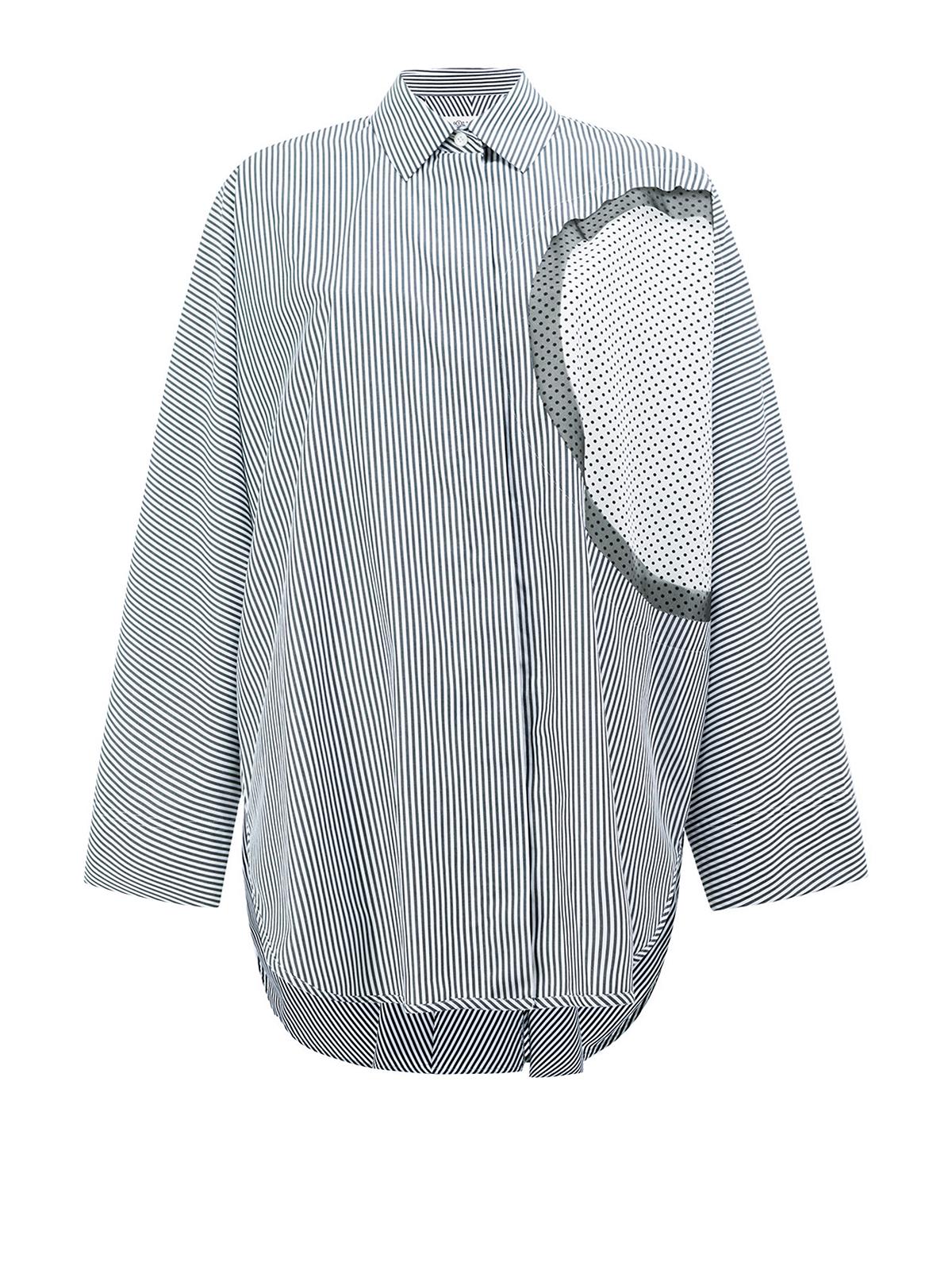Cut Camicie Camicia Con Over Margiela Dettaglio Maison Out D92WEHI