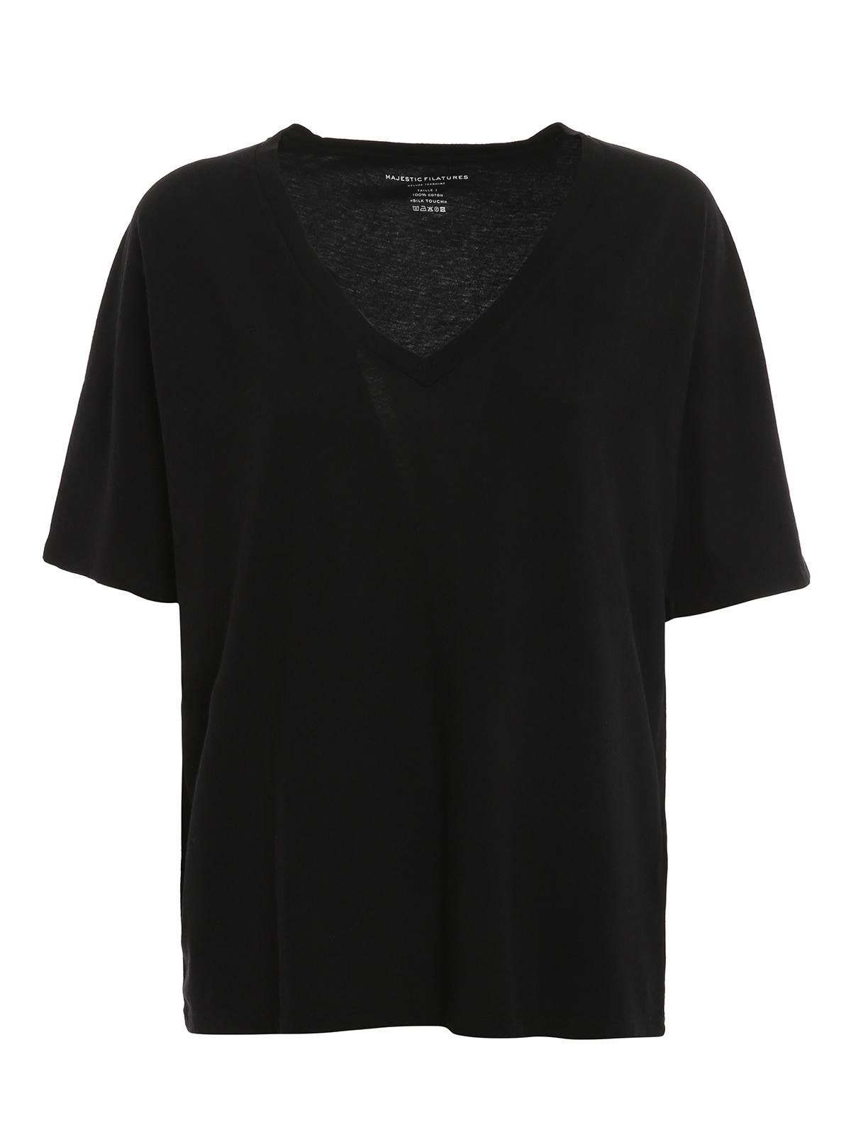 Majestic T-shirts COTTON V NECK T-SHIRT
