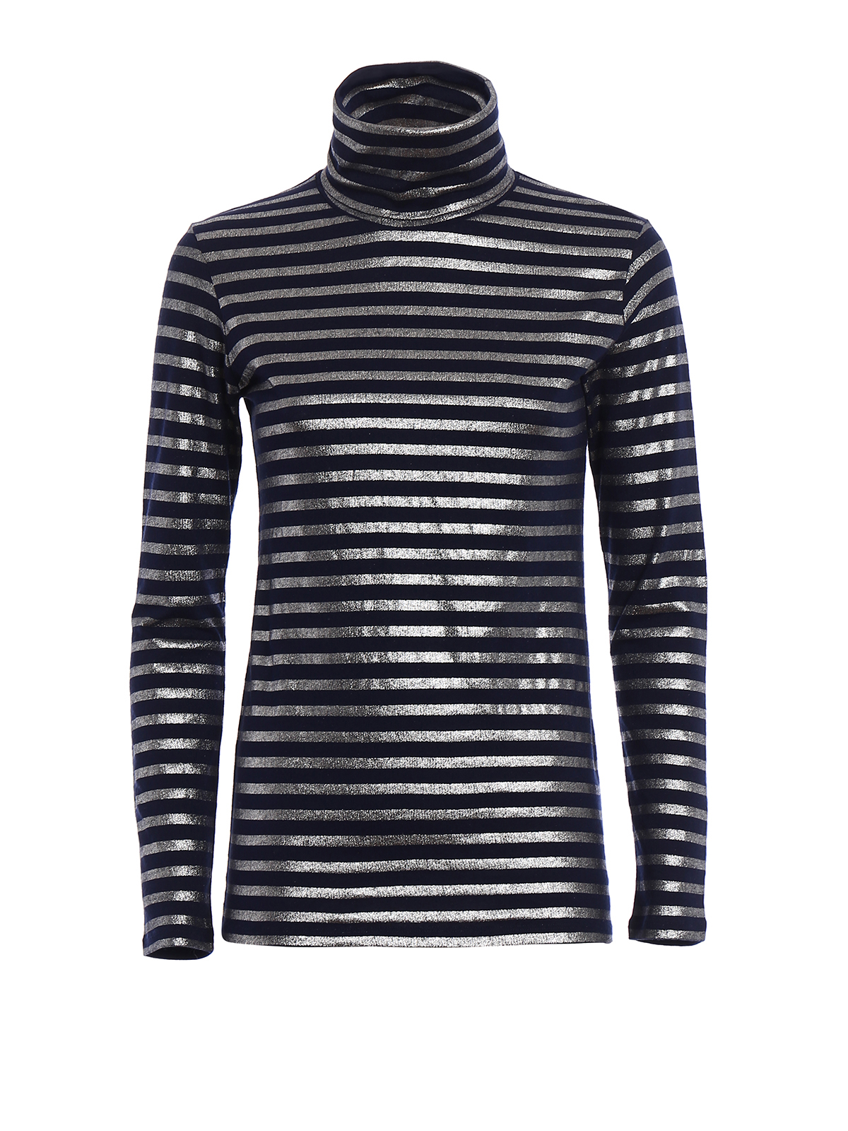 Striped Turtle Neck T Shirt By Majestic Filatures T