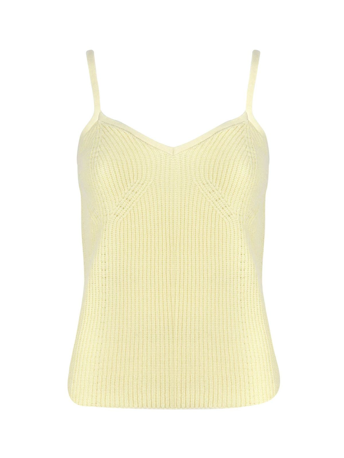 Malo T-shirts STRAPS TOP IN YELLOW