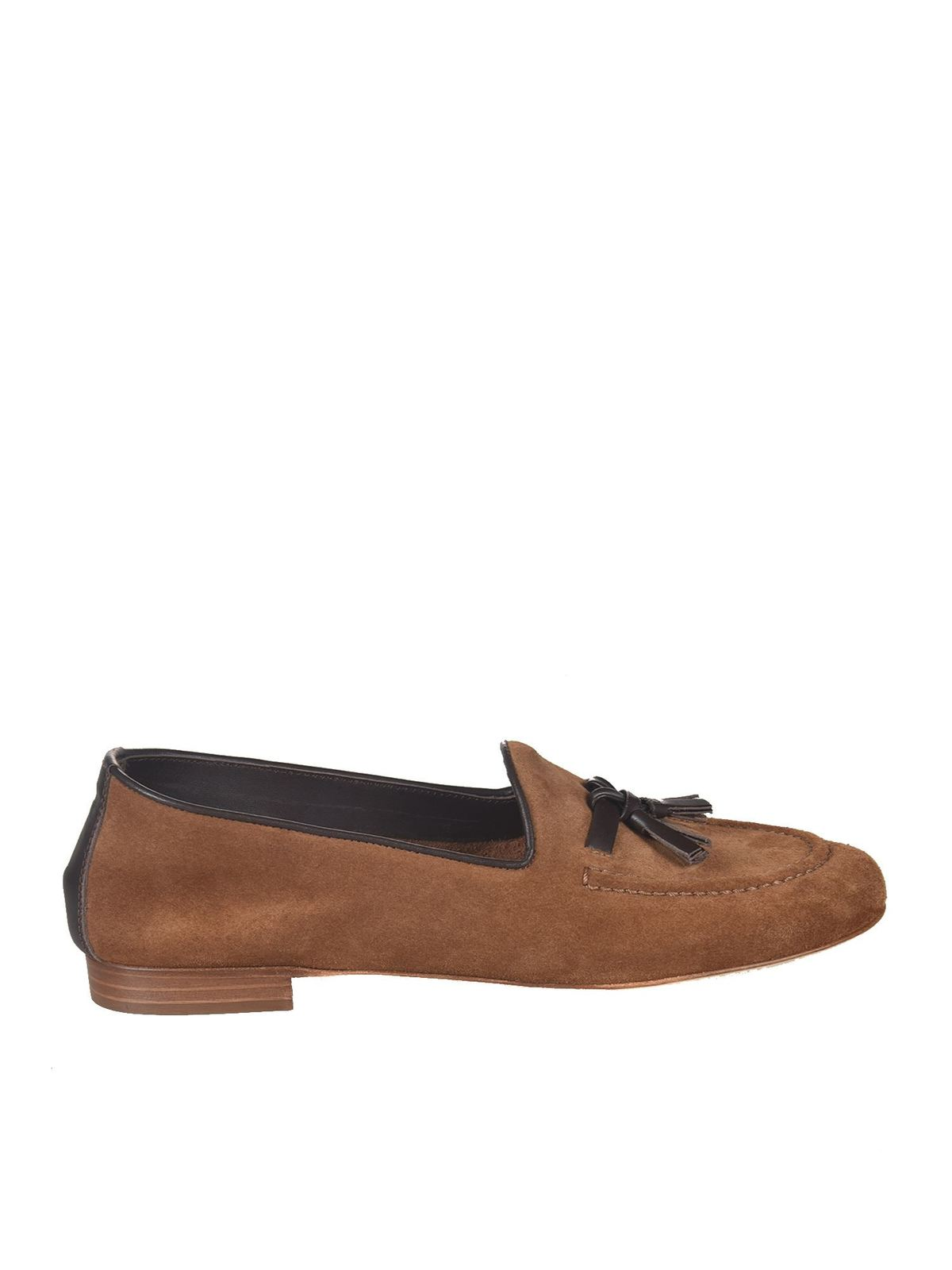 MALONE SOULIERS ALBERTO 3 LOAFERS IN BROWN