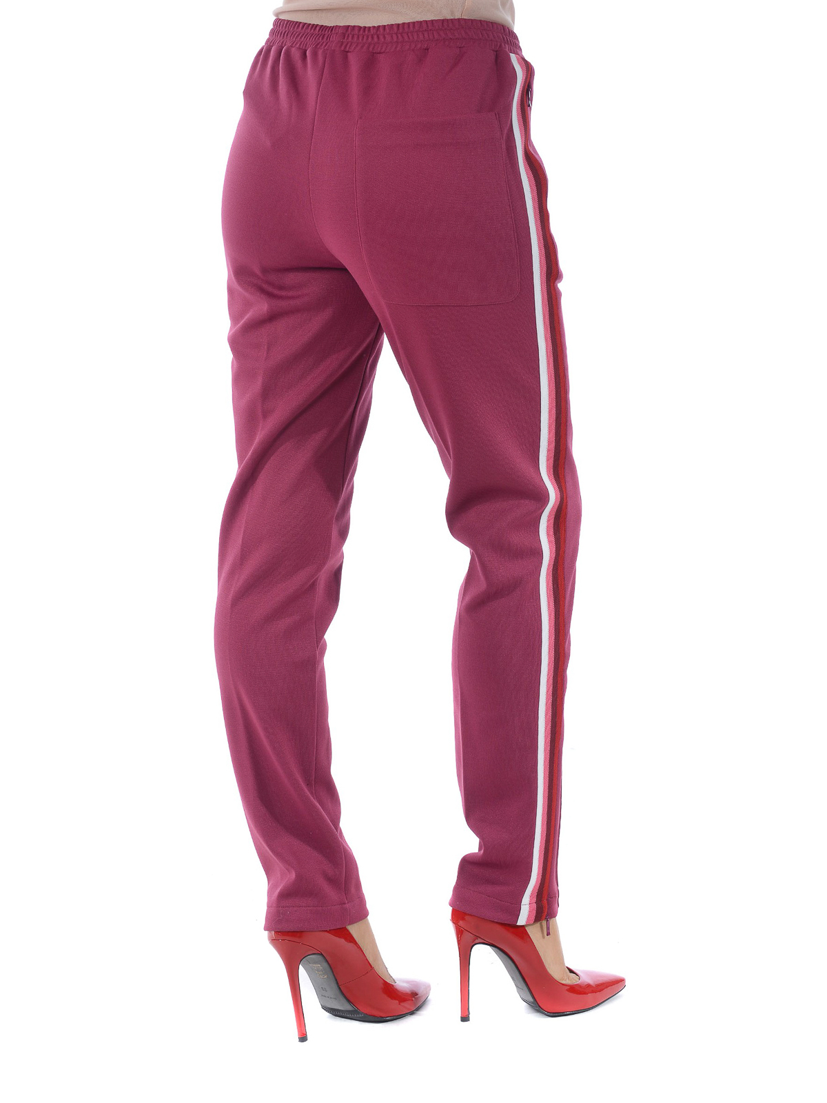 2a008fa941 Moncler - Pantalone da jogging con bande laterali - pantaloni casual ...