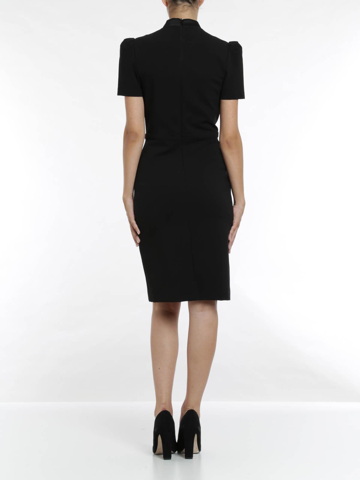 Cap sleeve black sequins mandarin collar traditional ...   Mandarin Collar Cocktail Dress