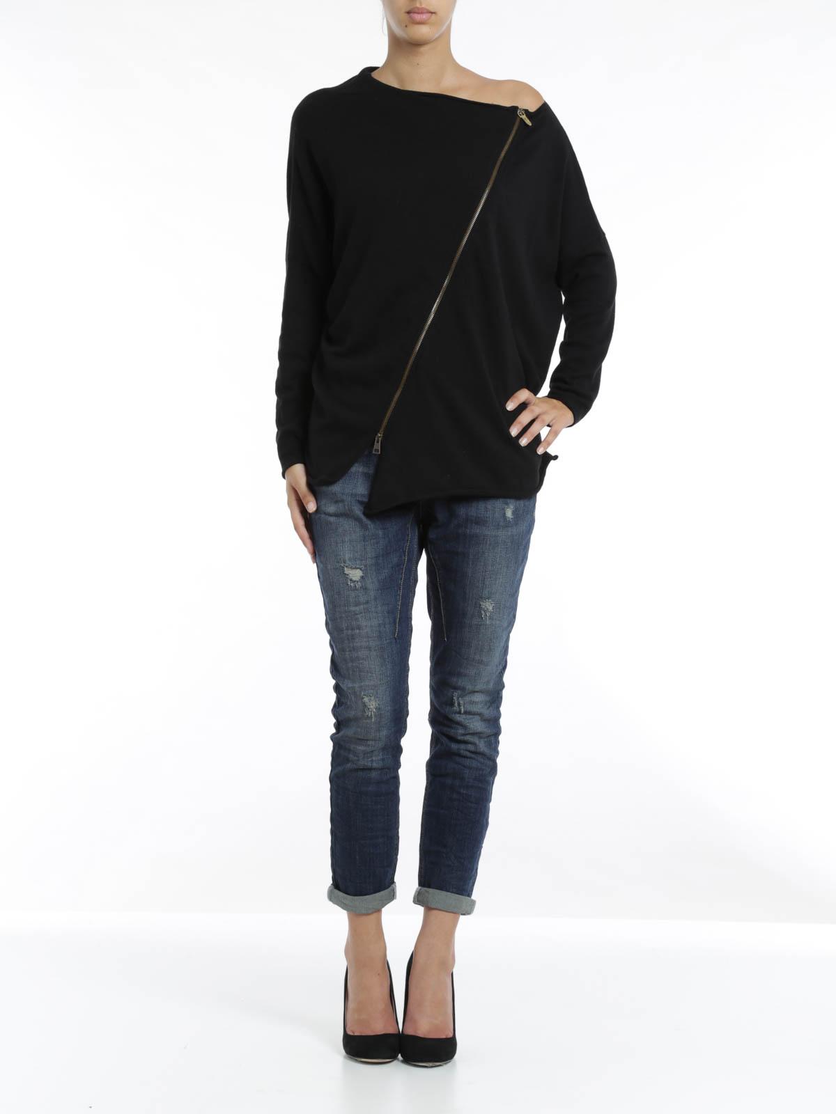 Zipped Top By Manila Grace Denim Sweatshirts amp Sweaters