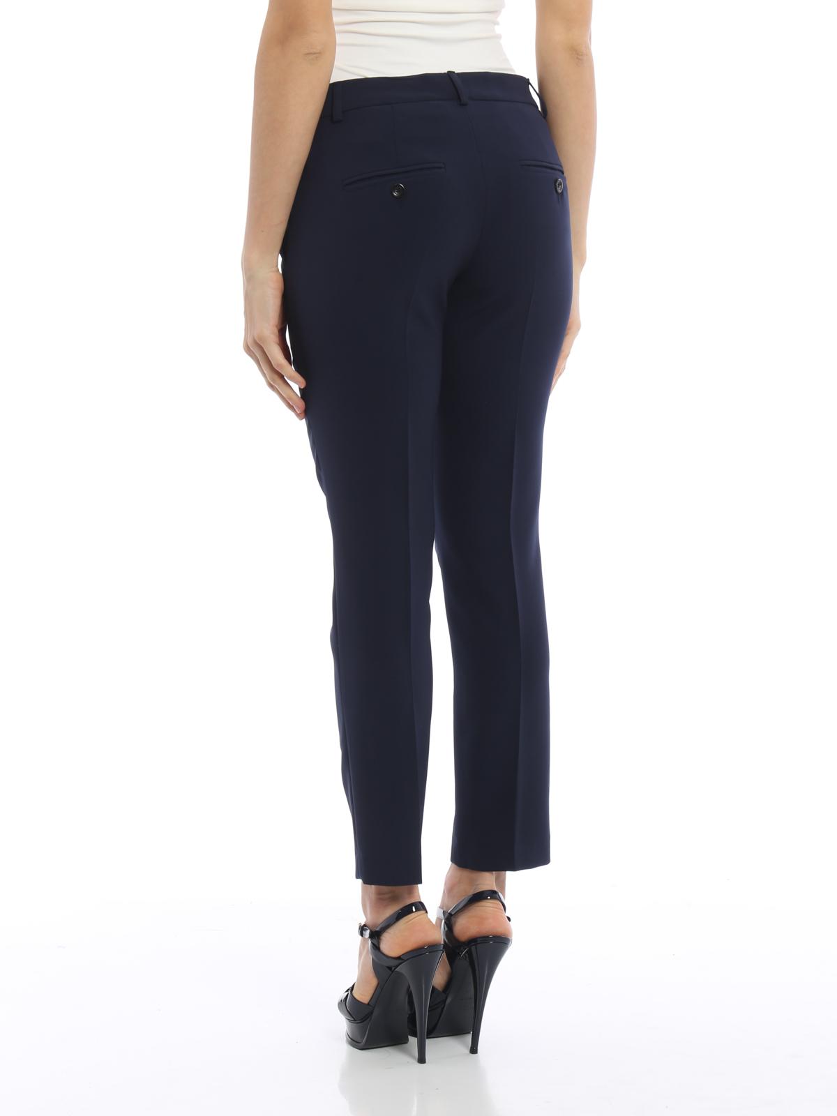 3f8e4a0164 iKRIX Paolo Fiorillo  Pantalones de sastrerìa - Pantalón De Vestir Azul  Oscuro