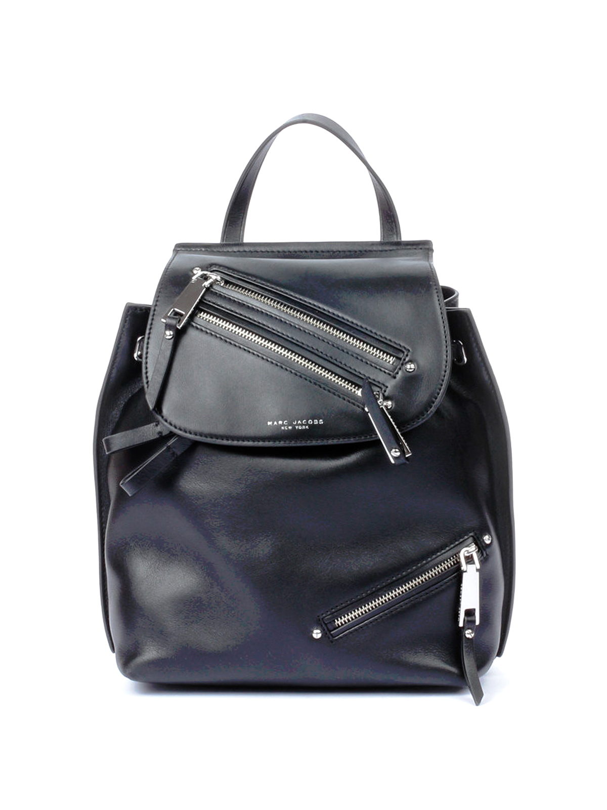 smooth leather multipocket backpack by marc jacobs. Black Bedroom Furniture Sets. Home Design Ideas