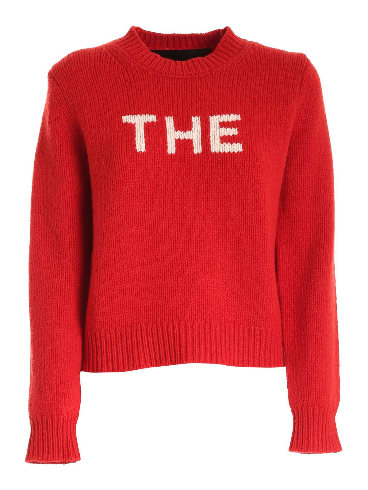 Marc Jacobs WHITE INLAY JUMPER IN RED