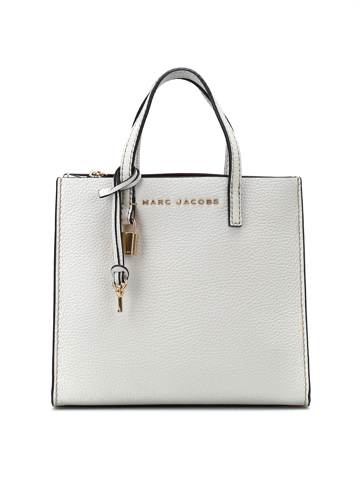 8c0ca9bcc1f9a Marc Jacobs - Mini Grind white pebble leather bag - cross body bags ...