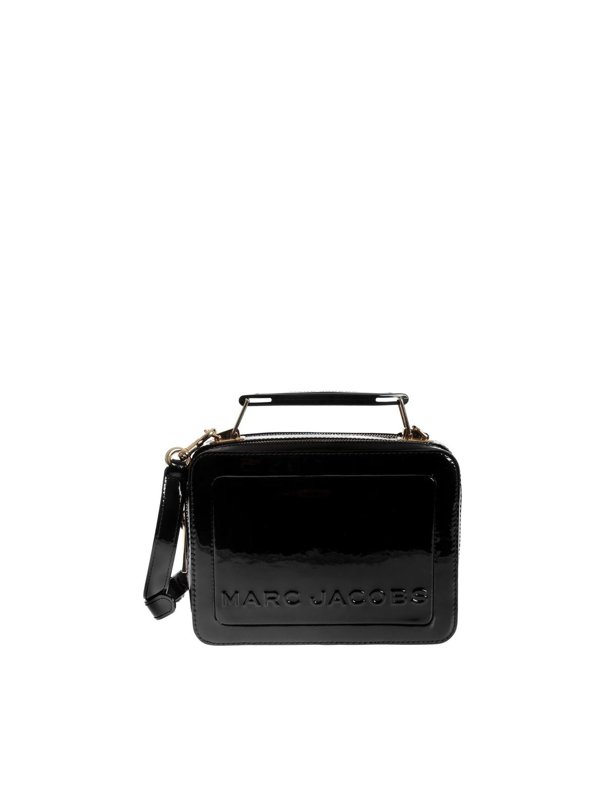 Marc Jacobs Handbags THE PATENT BOX BAG IN BLACK