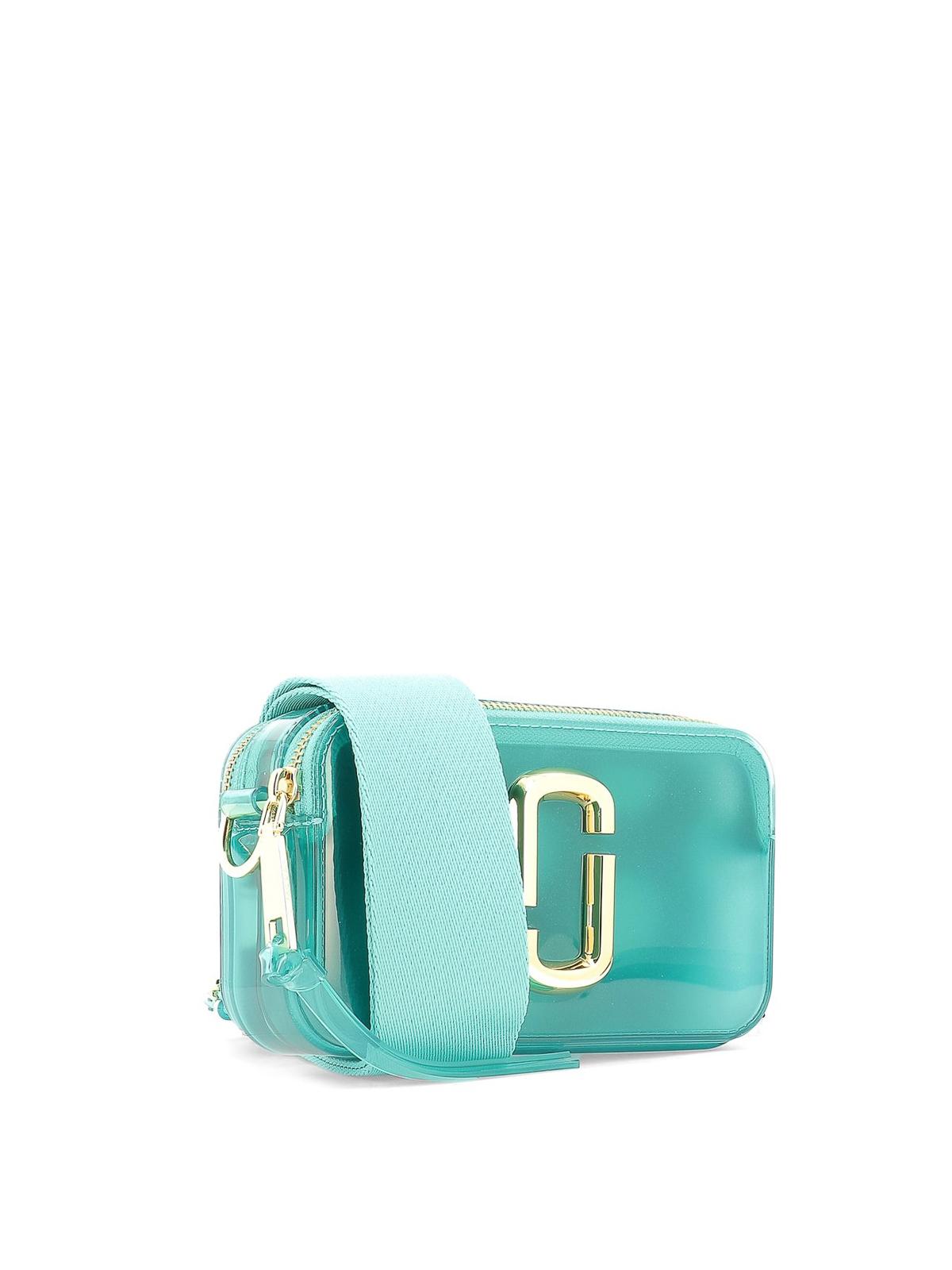 Marc Jacobs Borsa Snapshot in plastica azzurra borse a