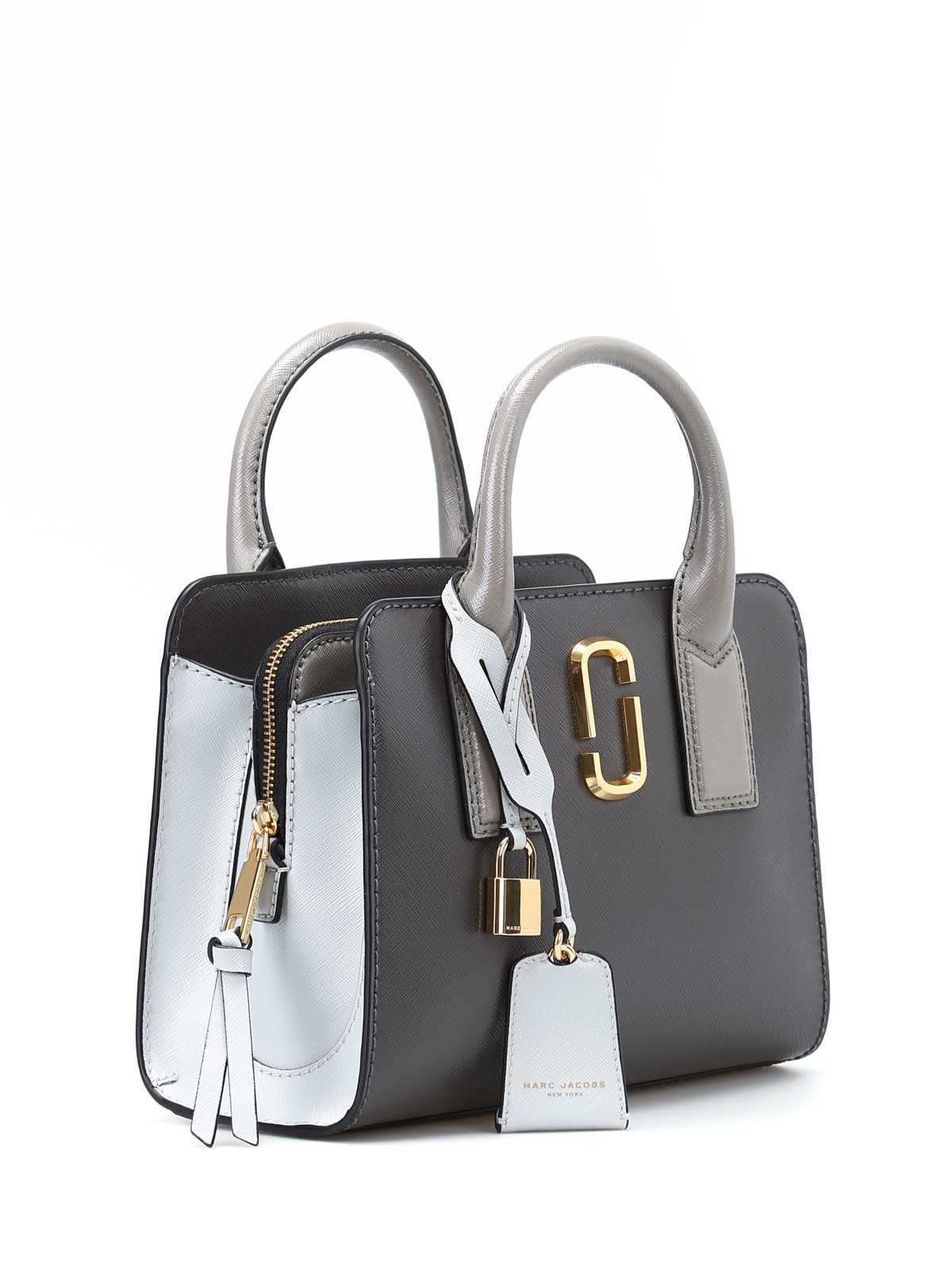 c57834d28201 MARC JACOBS  totes bags online - Little Big Shot grey leather tote
