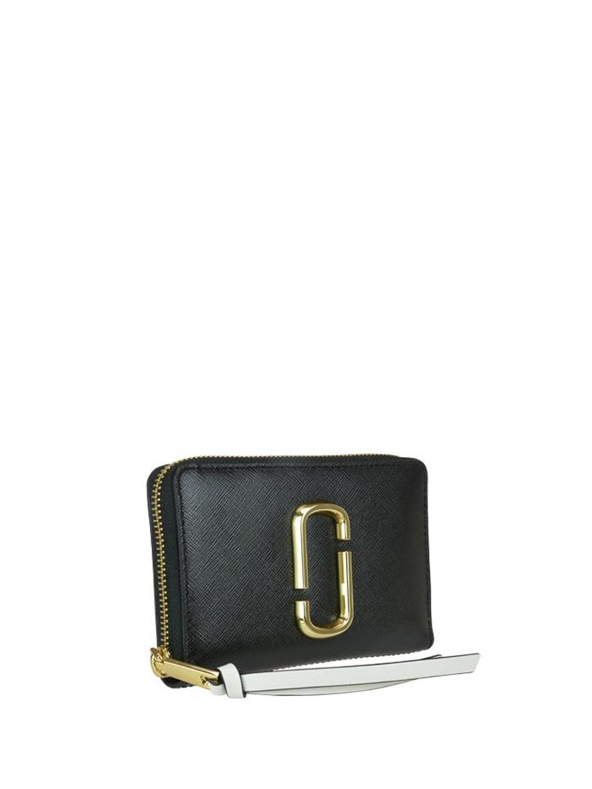 3c6d1c5b12 MARC JACOBS: wallets & purses online - Snapshot black and pink wallet