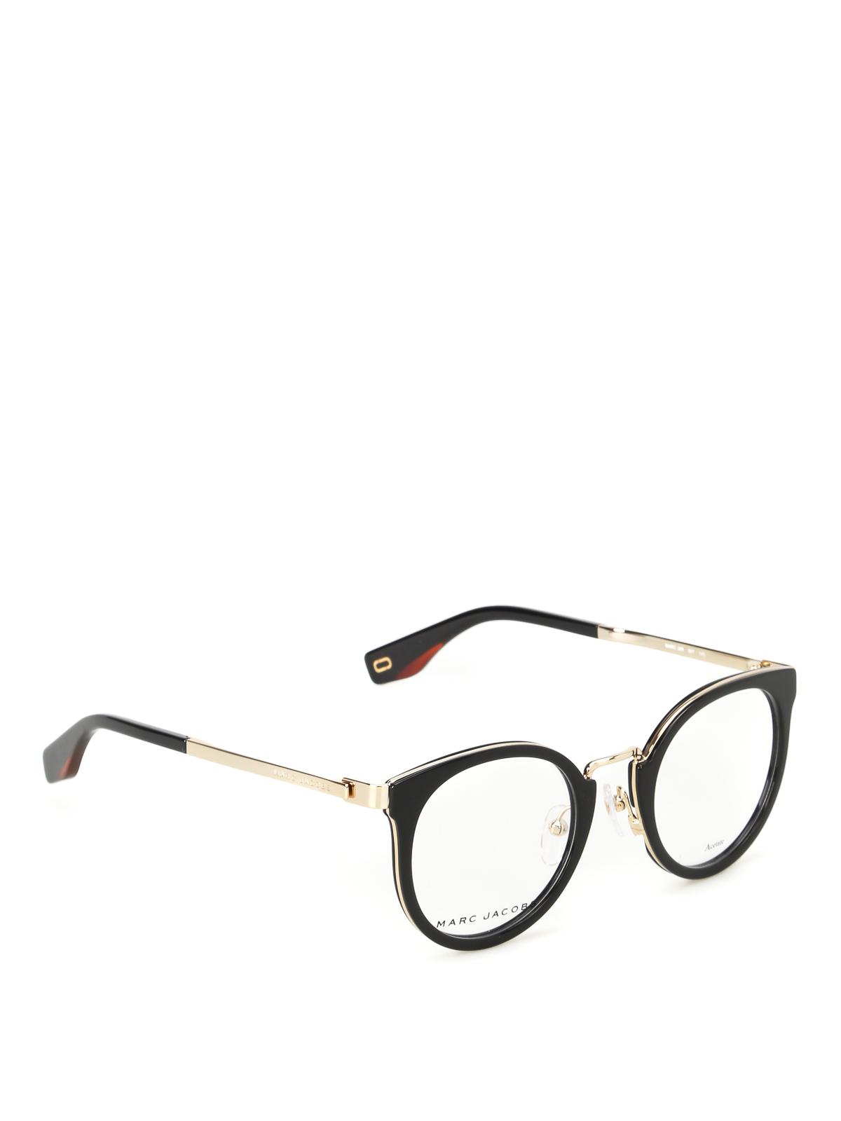 2fb3bd3e38aa Marc Jacobs - Gold-tone bridge rounded eyeglasses - sunglasses ...