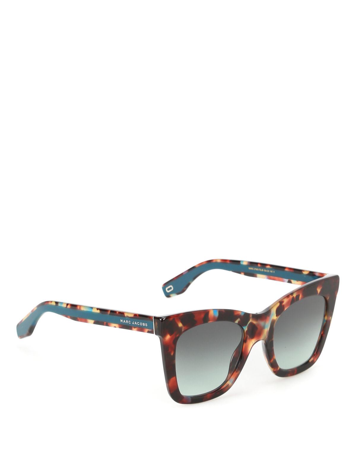 detailed look 28d68 1bf55 Marc Jacobs - Havana Turquoise squared sunglasses ...