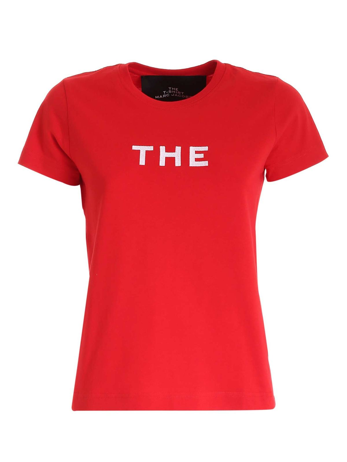 Marc Jacobs EMBROIDERY T-SHIRT IN RED